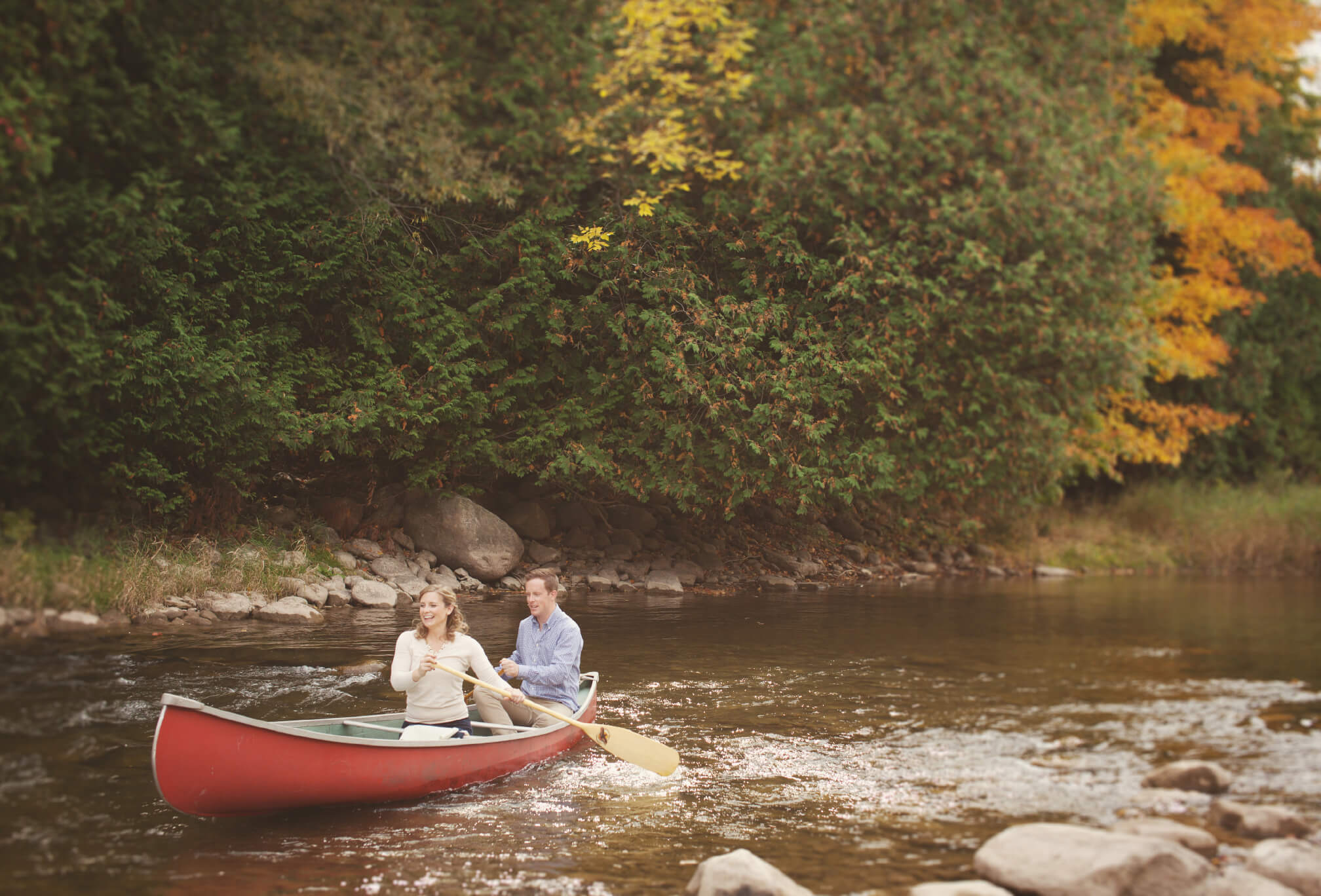 engagement shoot on beaver river