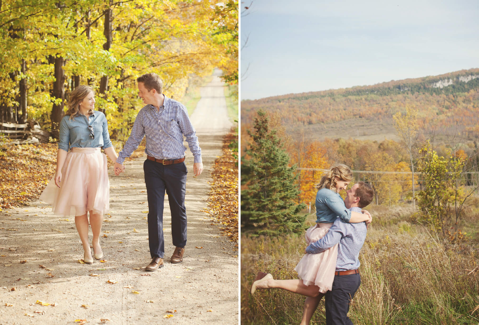 kimberley ontario engagement shoot