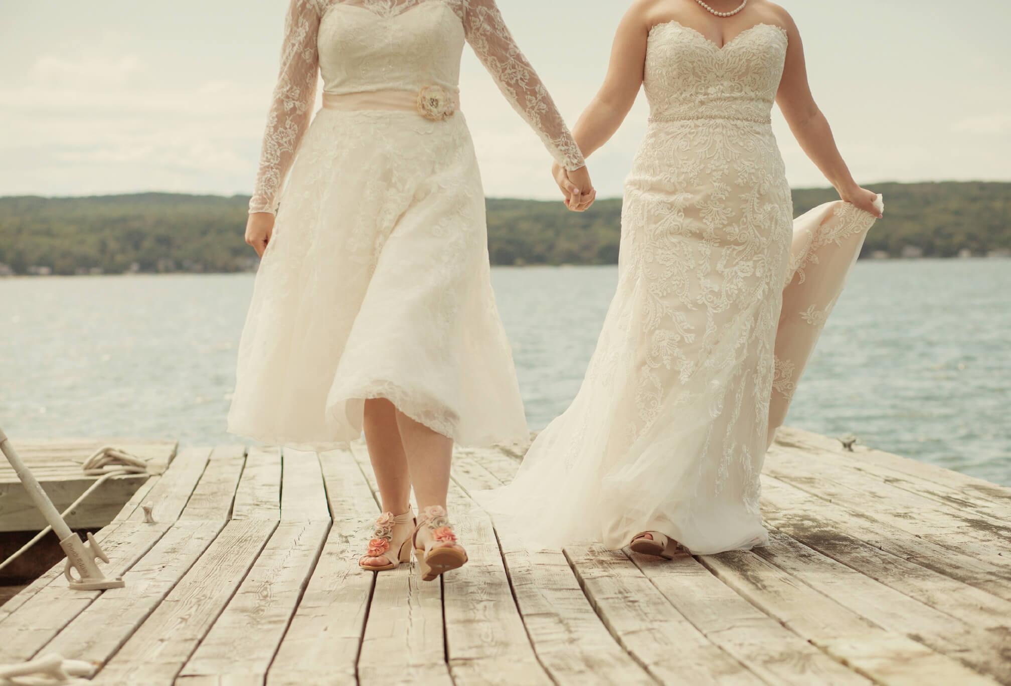 lesbian lakeside wedding ontario