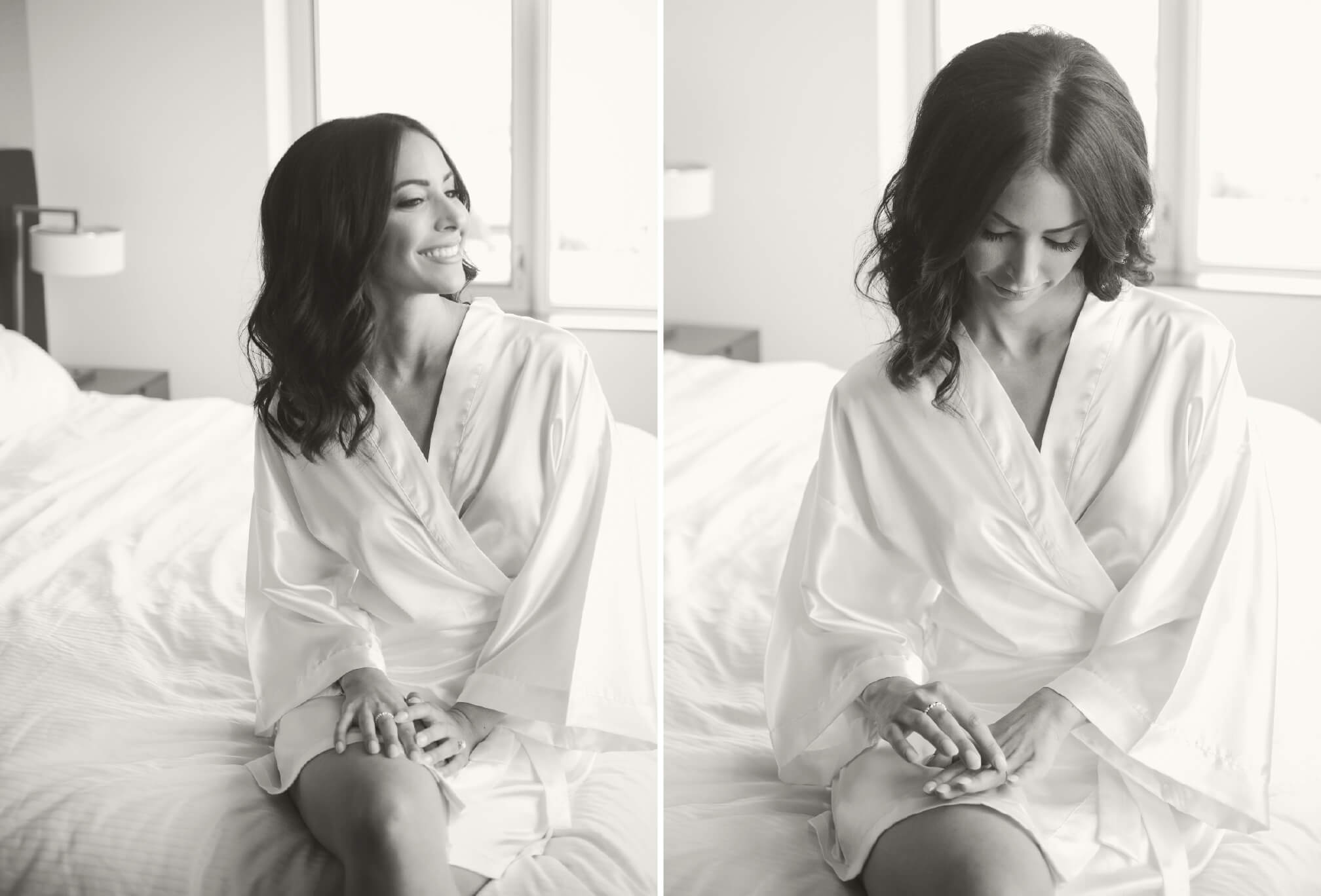 bride in robe