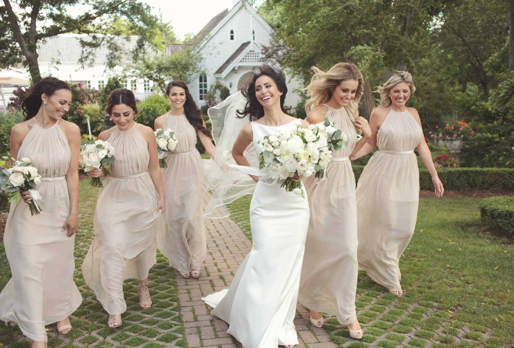 bridesmaids at doctors house