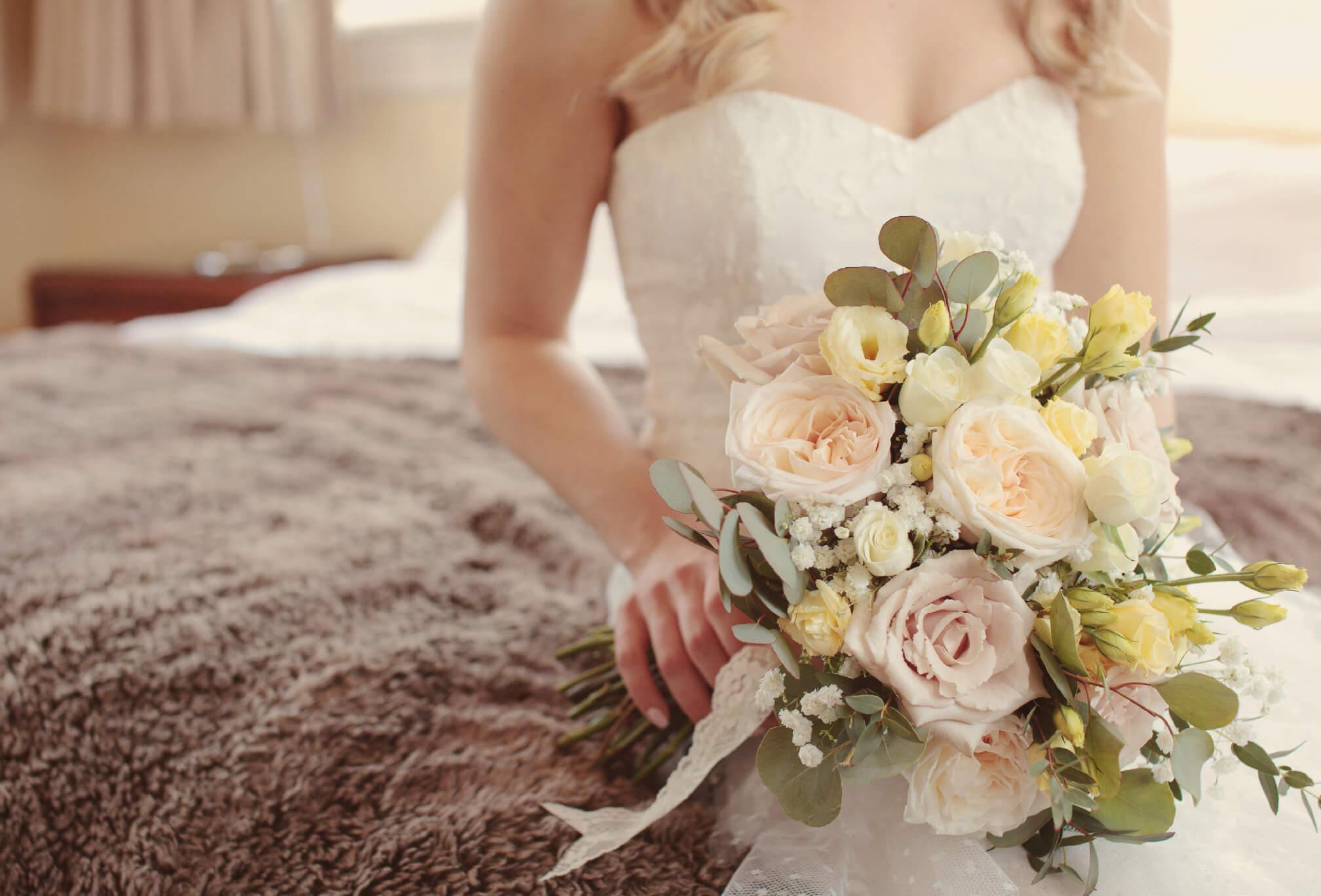 bouquet details roses