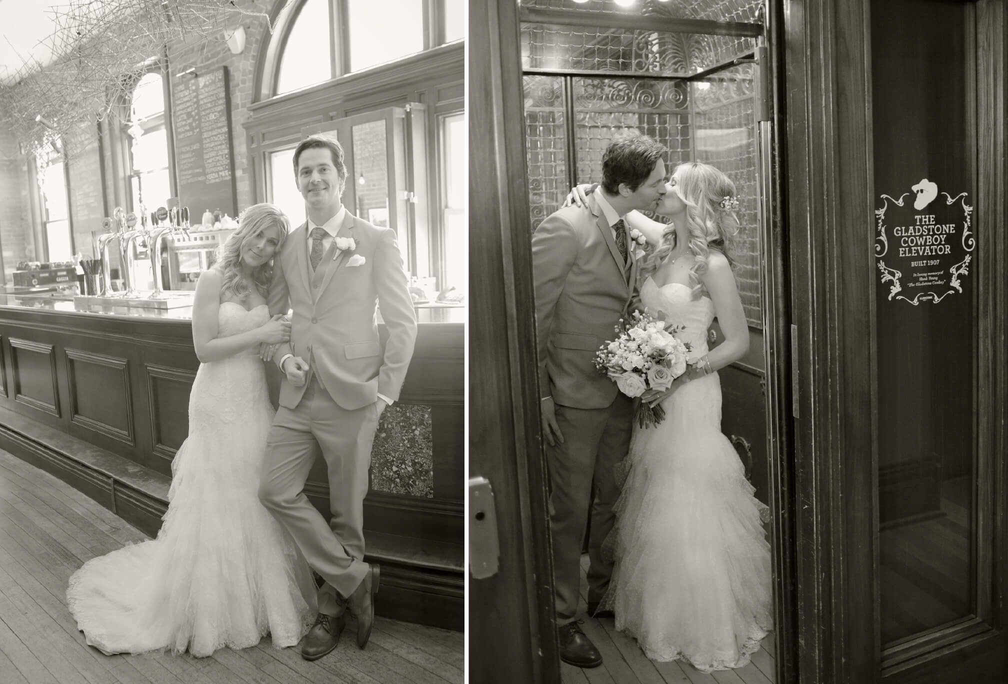 bride and groom photos at gladstone