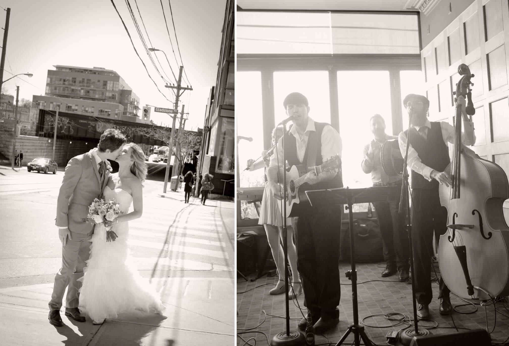 bride and groom on queen street west