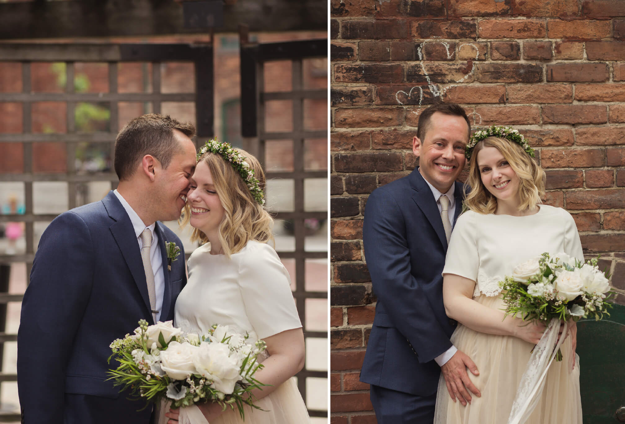 bride and groom photography in distillery district
