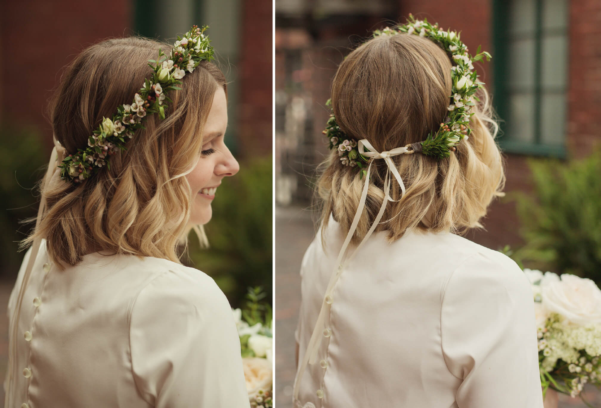 flower crown wedding style