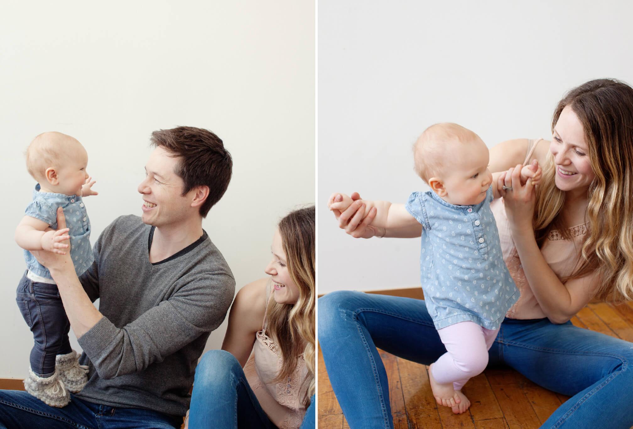 documentary family photographs in studio