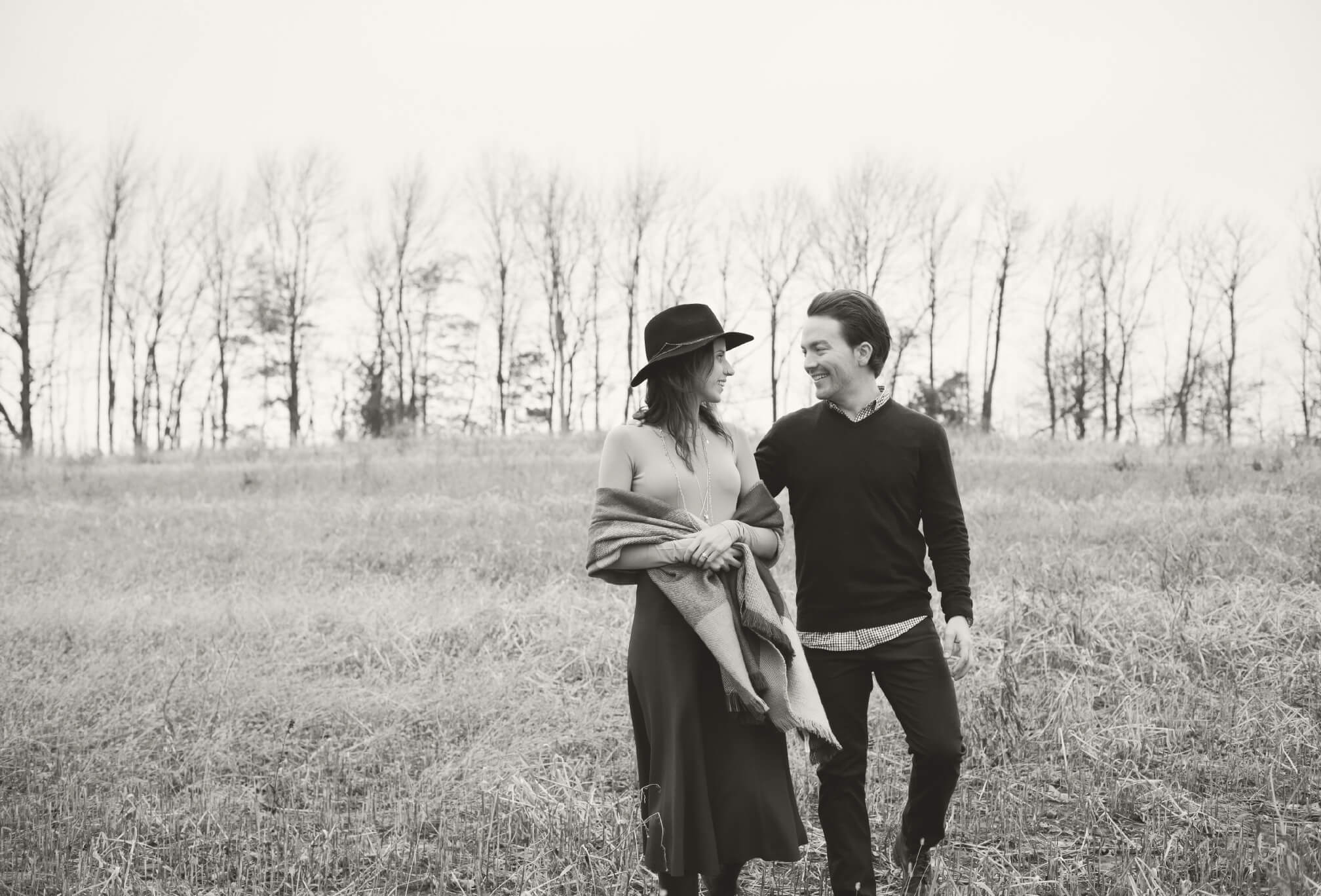 rustic, fall engagement