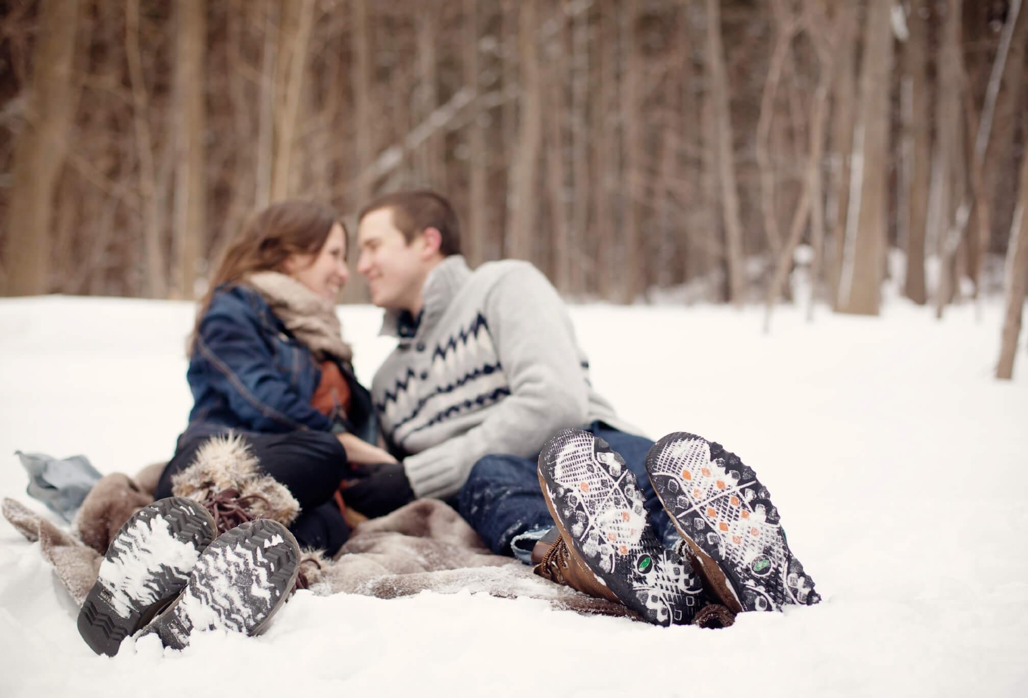 what to wear winter engagement shoot