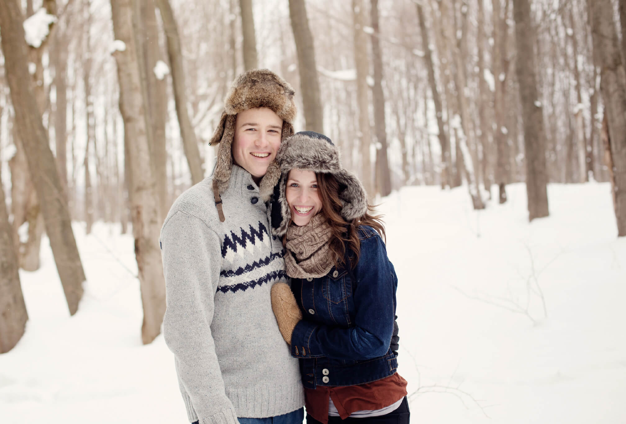 winter engagement style