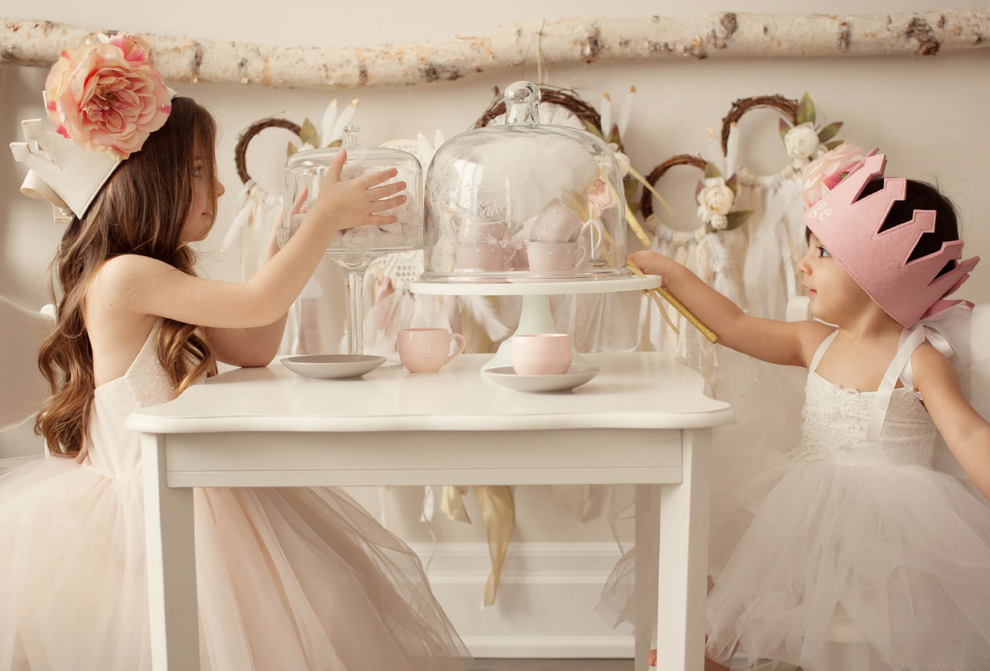 first birthday tea party photoshoot