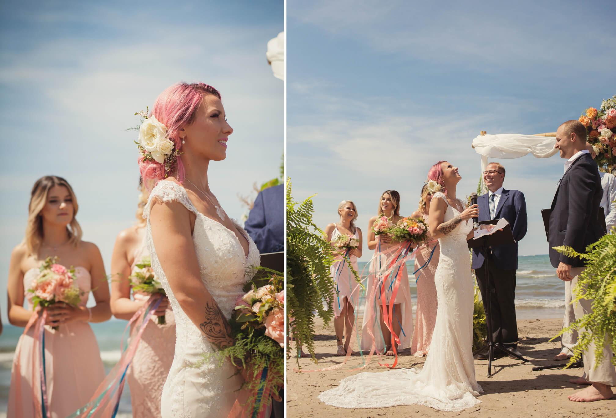 beachfront ceremony details