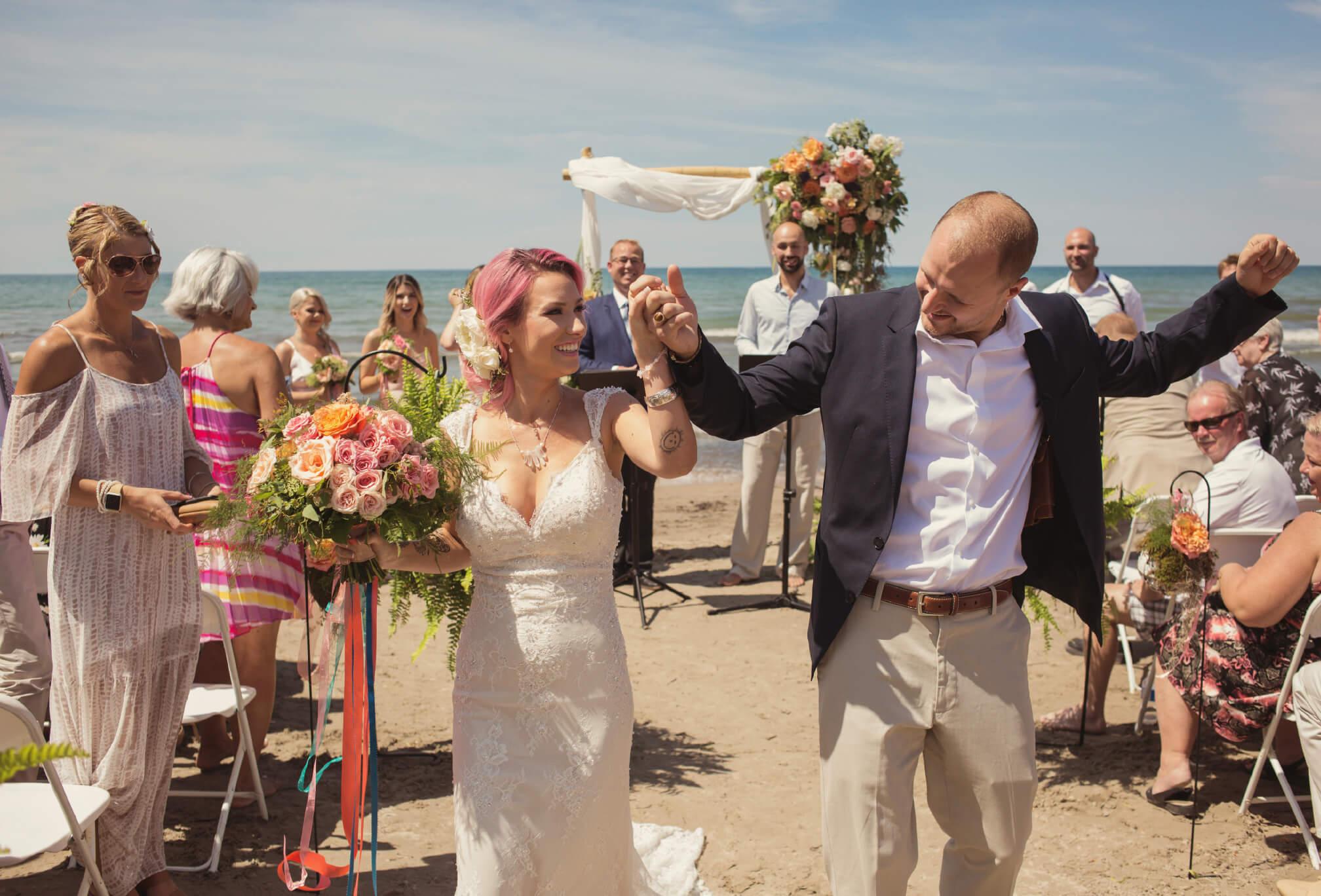 wasaga beach waterside wedding