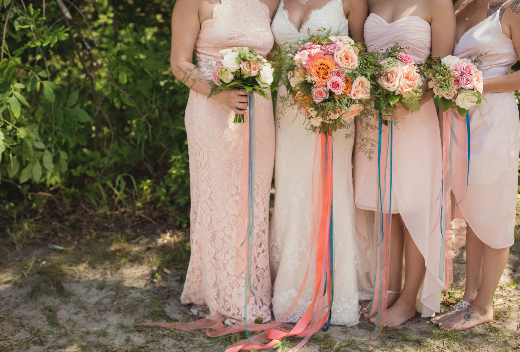 pink bridesmaids ontario