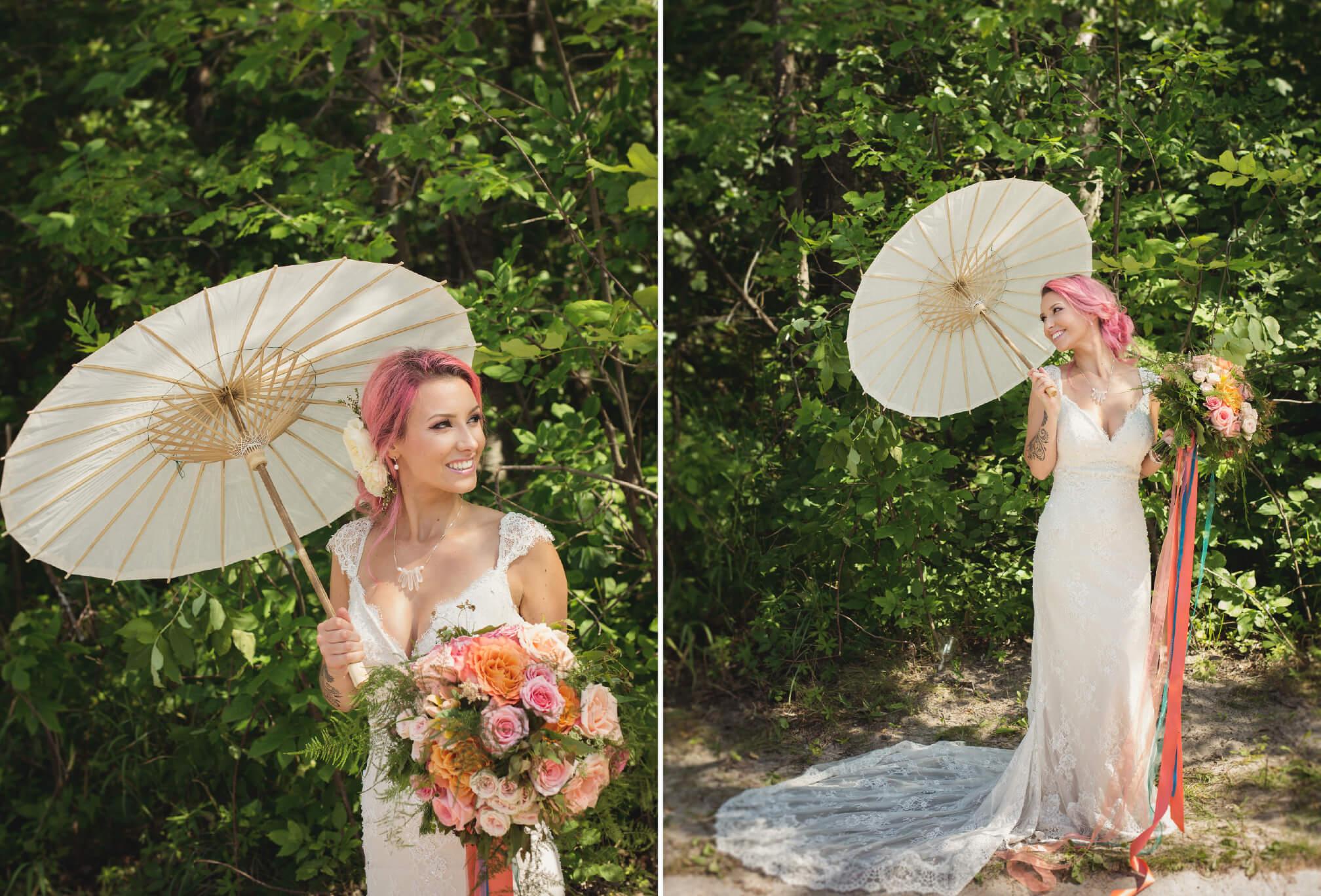 beach bride wedding style