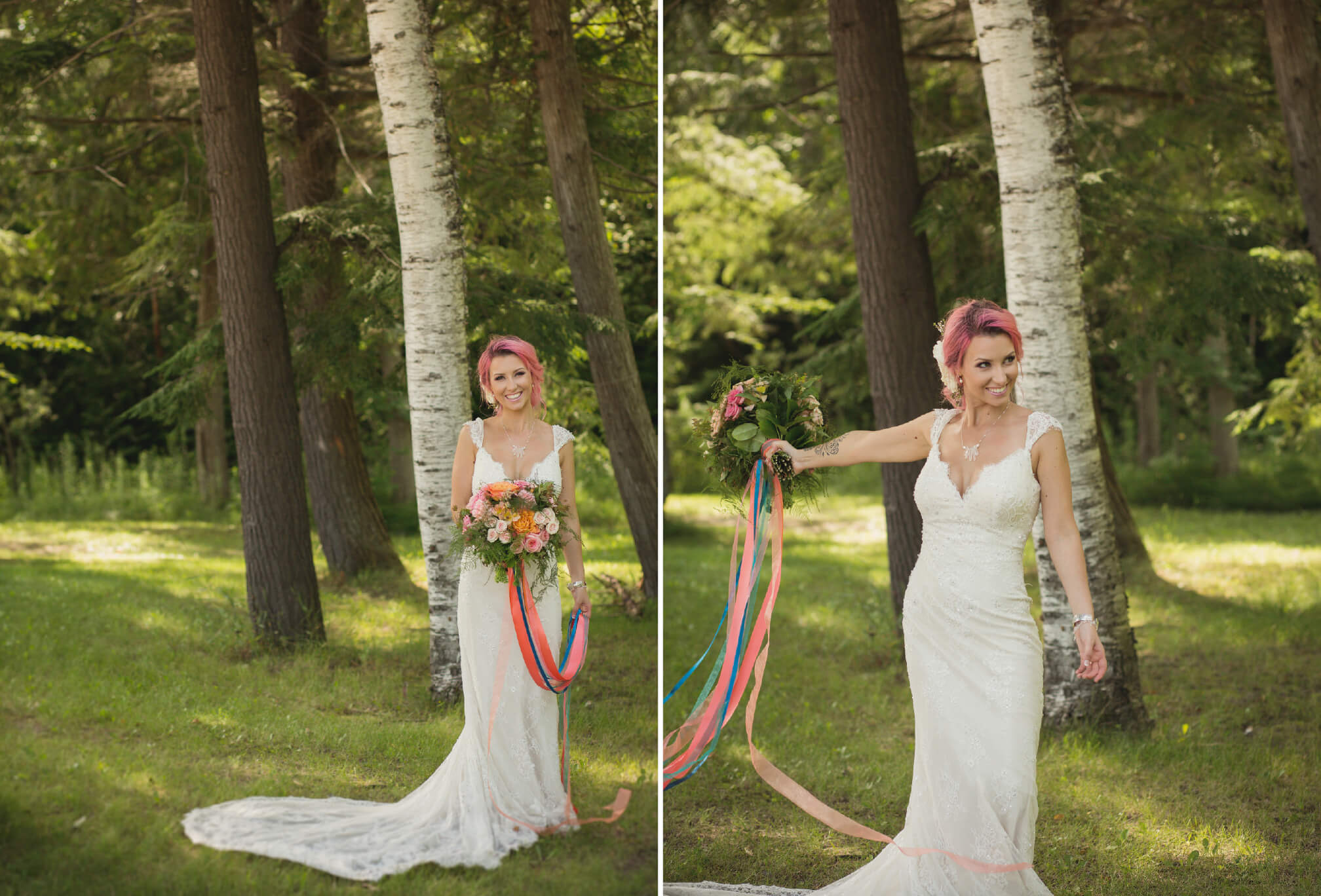 bride style pink hair
