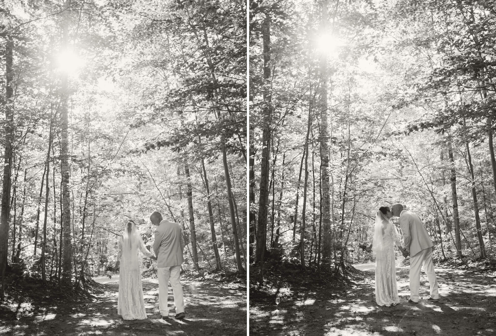 forest wedding pictures