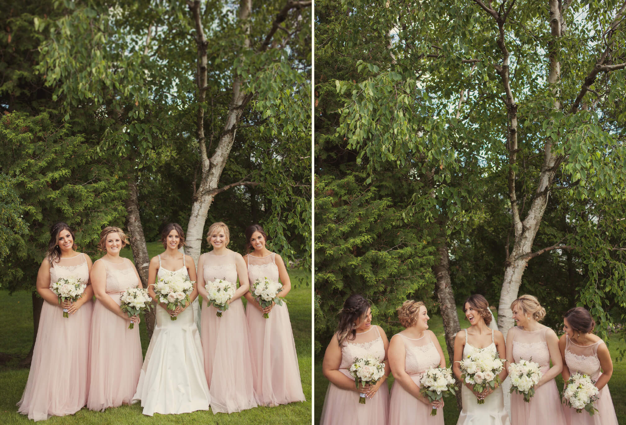 pink bridesmaids style