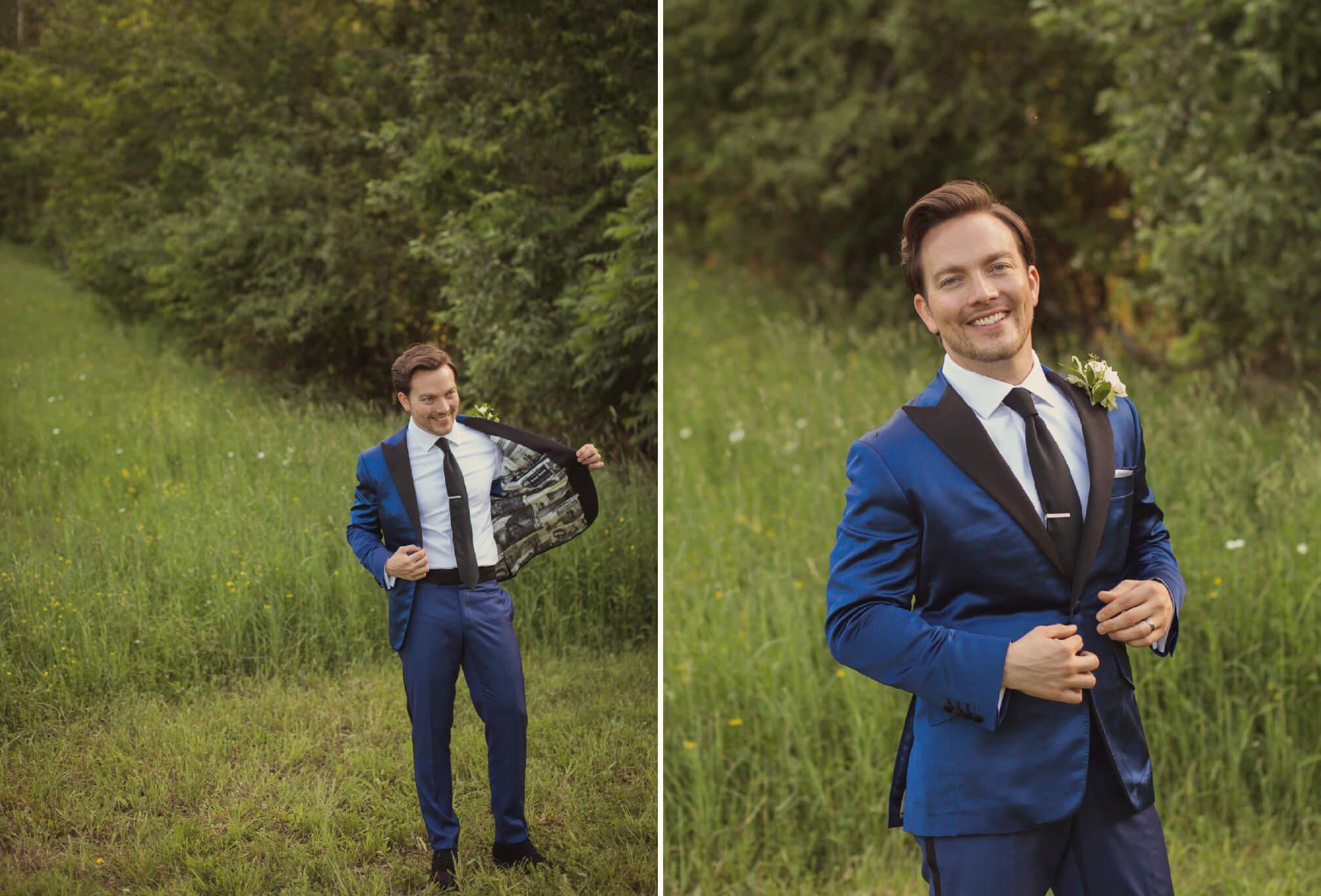 groom blue tux