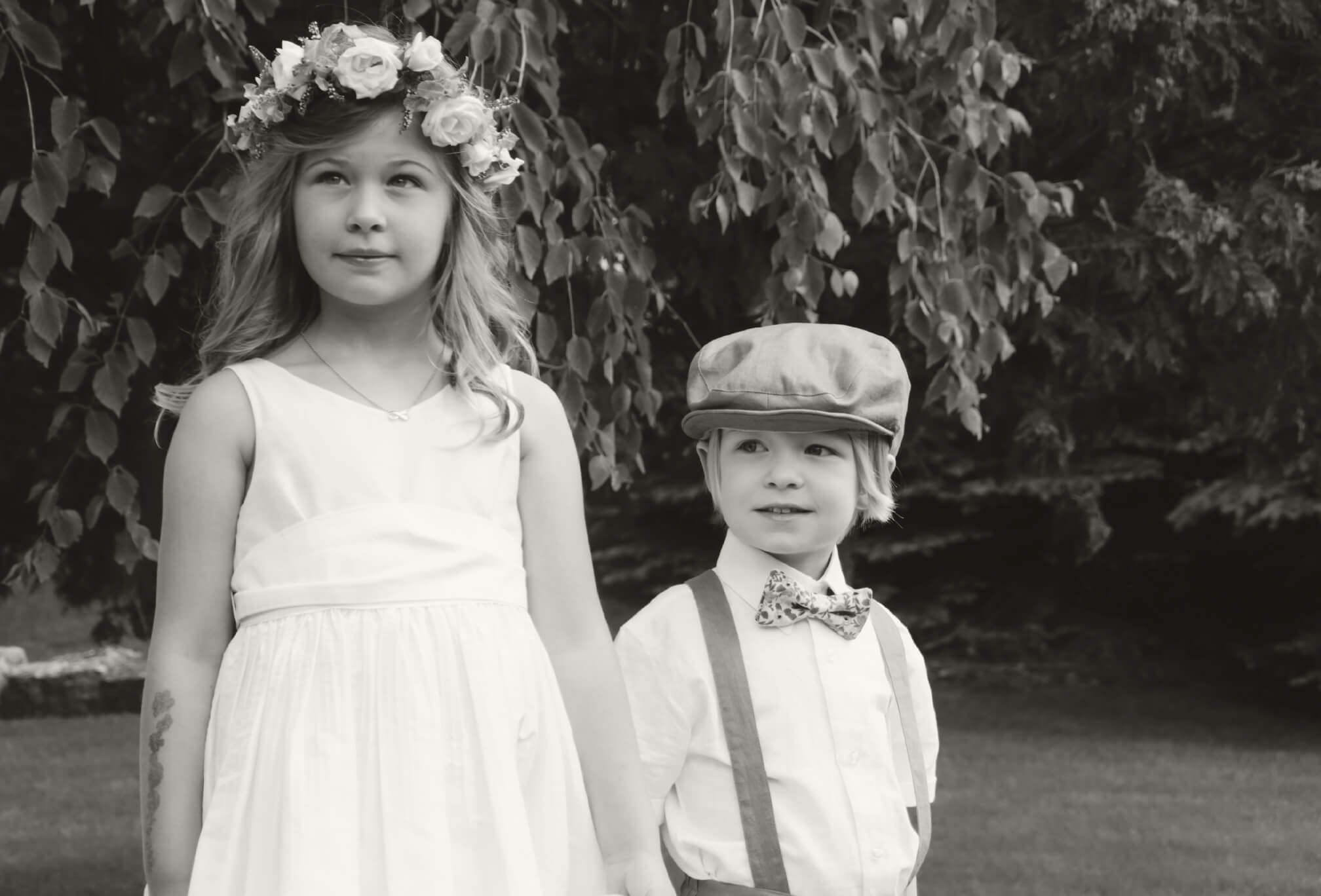 flower girl and ring boy style