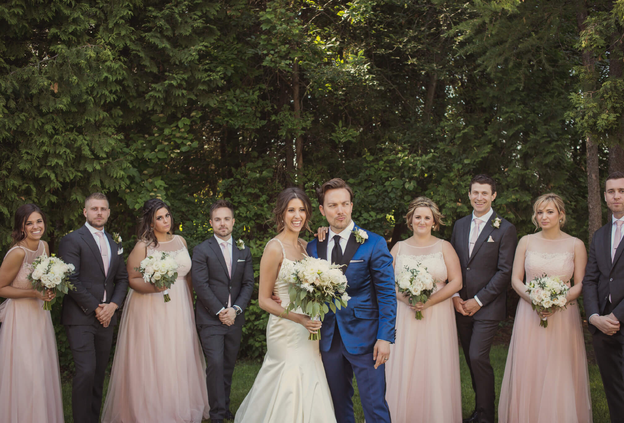 bridal party pink and blue ontario