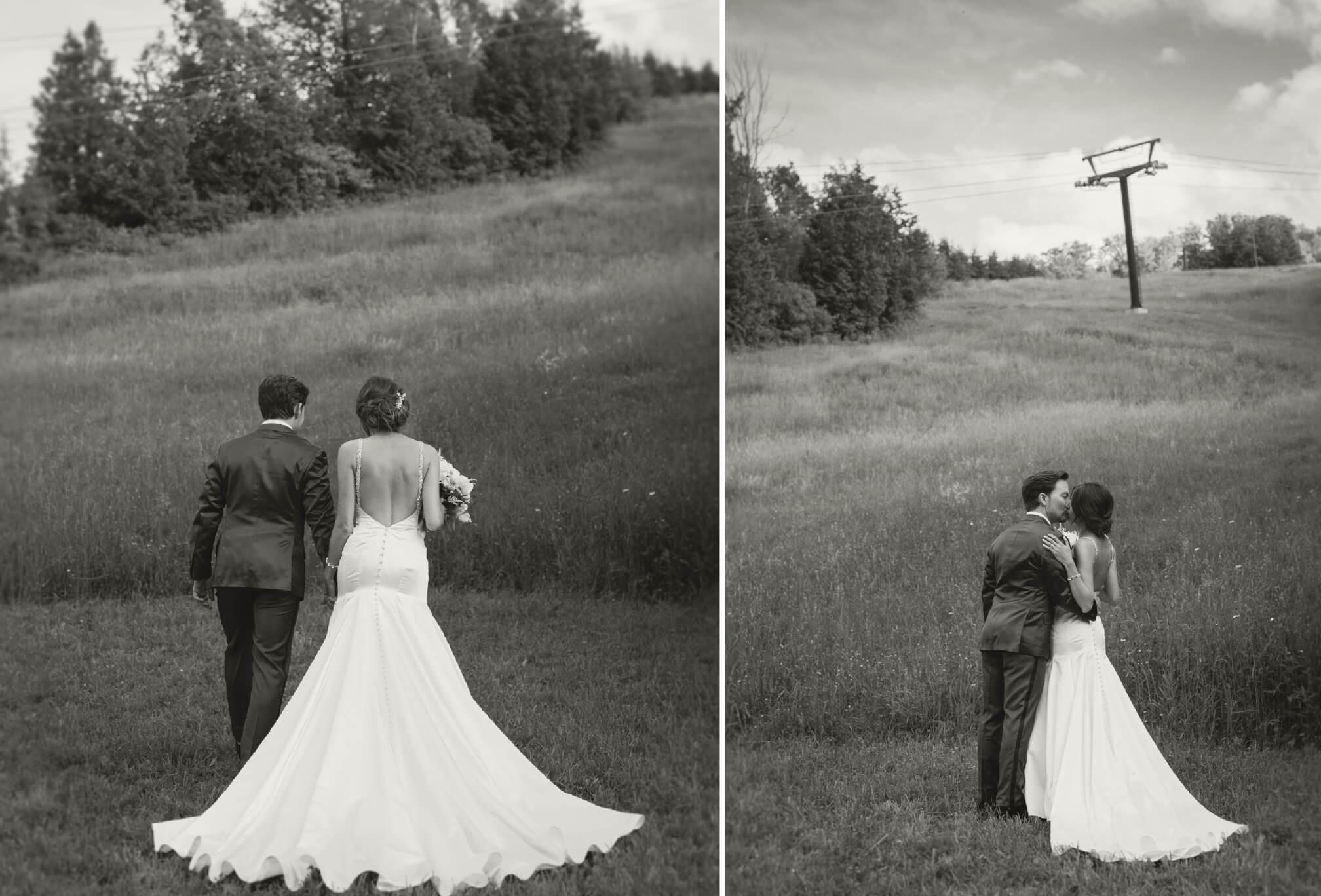 bride and groom alpine ski club