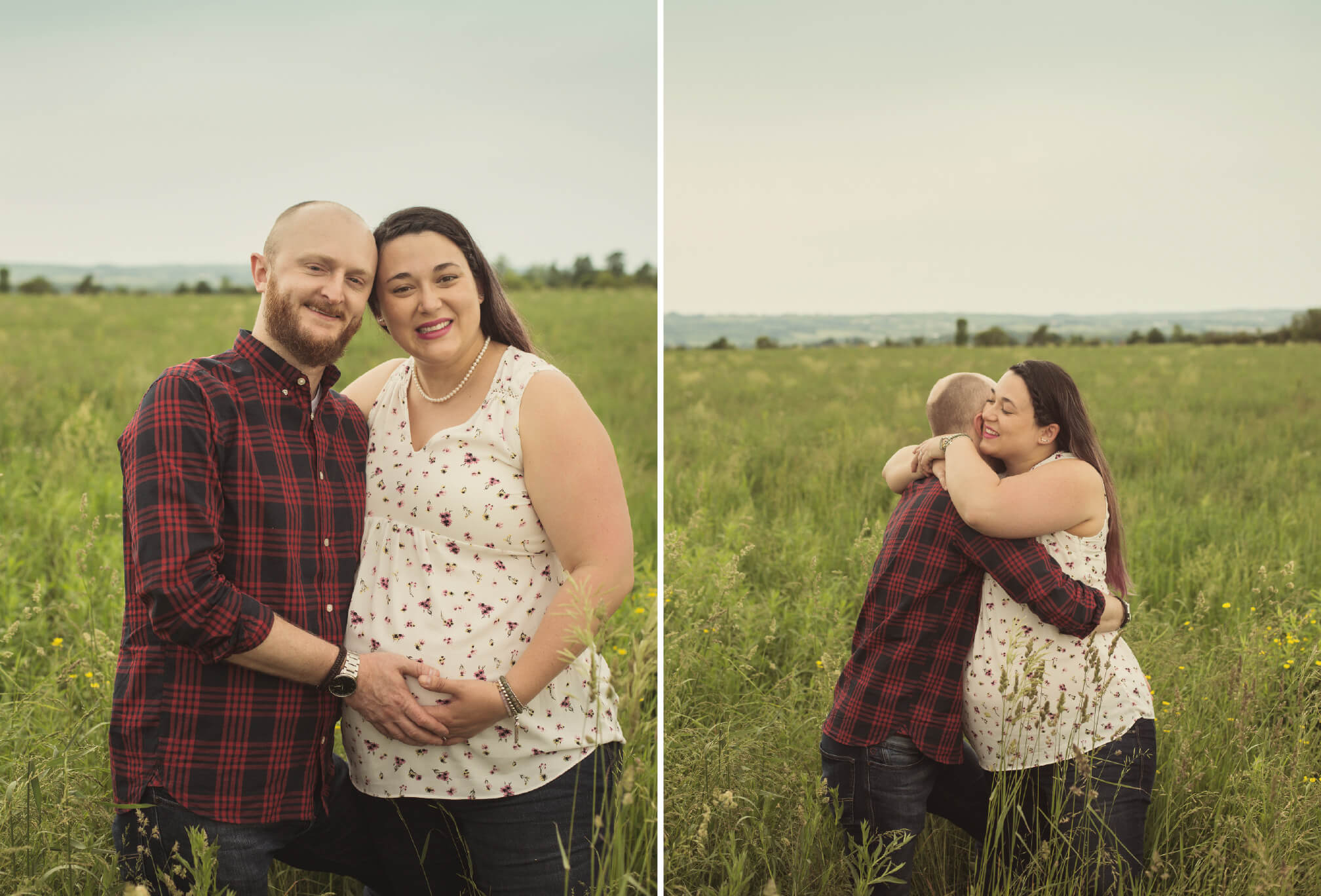 maternity pregnancy session in field