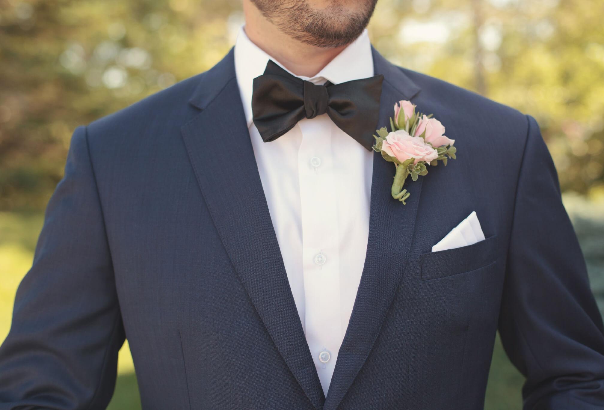 blue suit groom style ontario