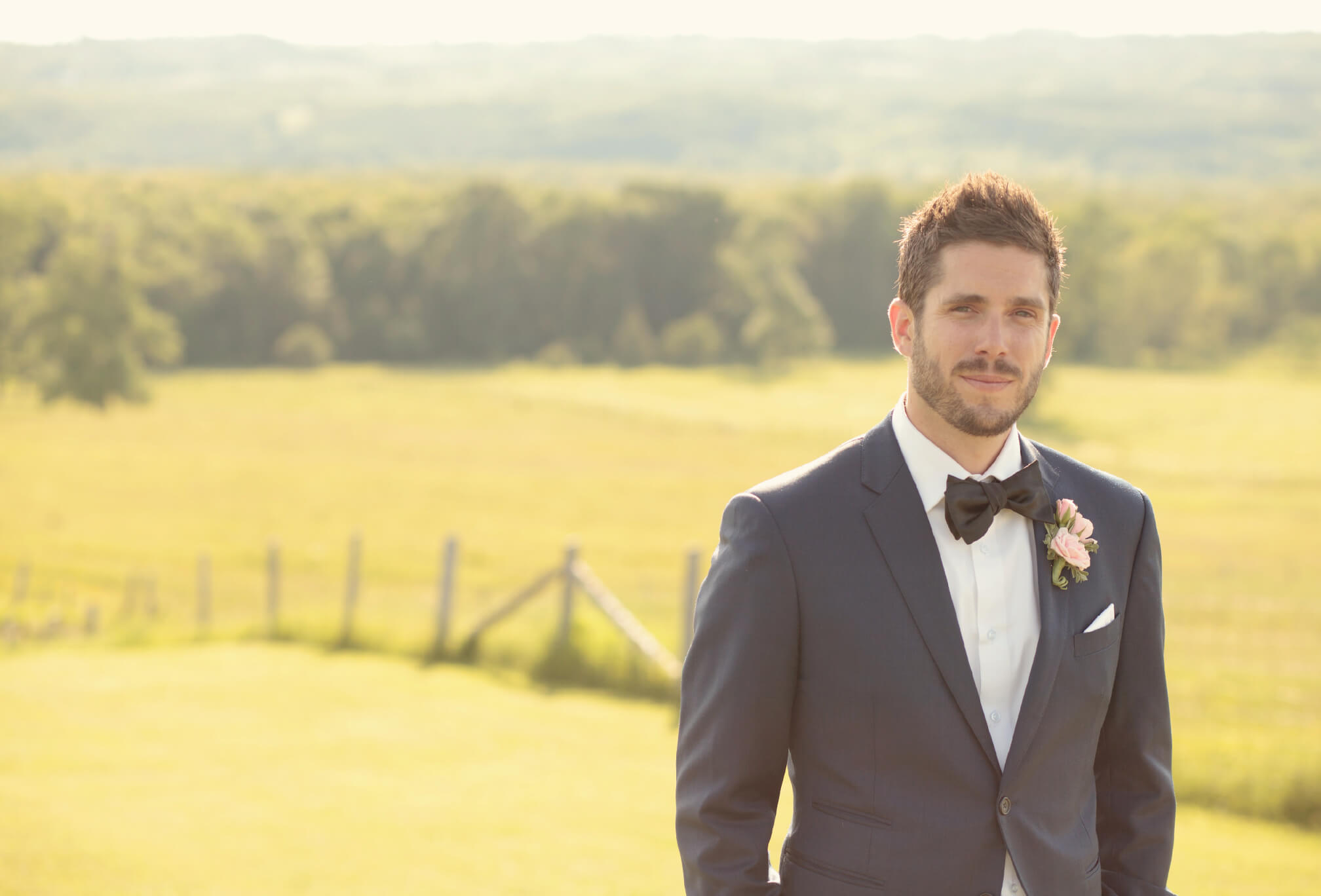 groom style country wedding
