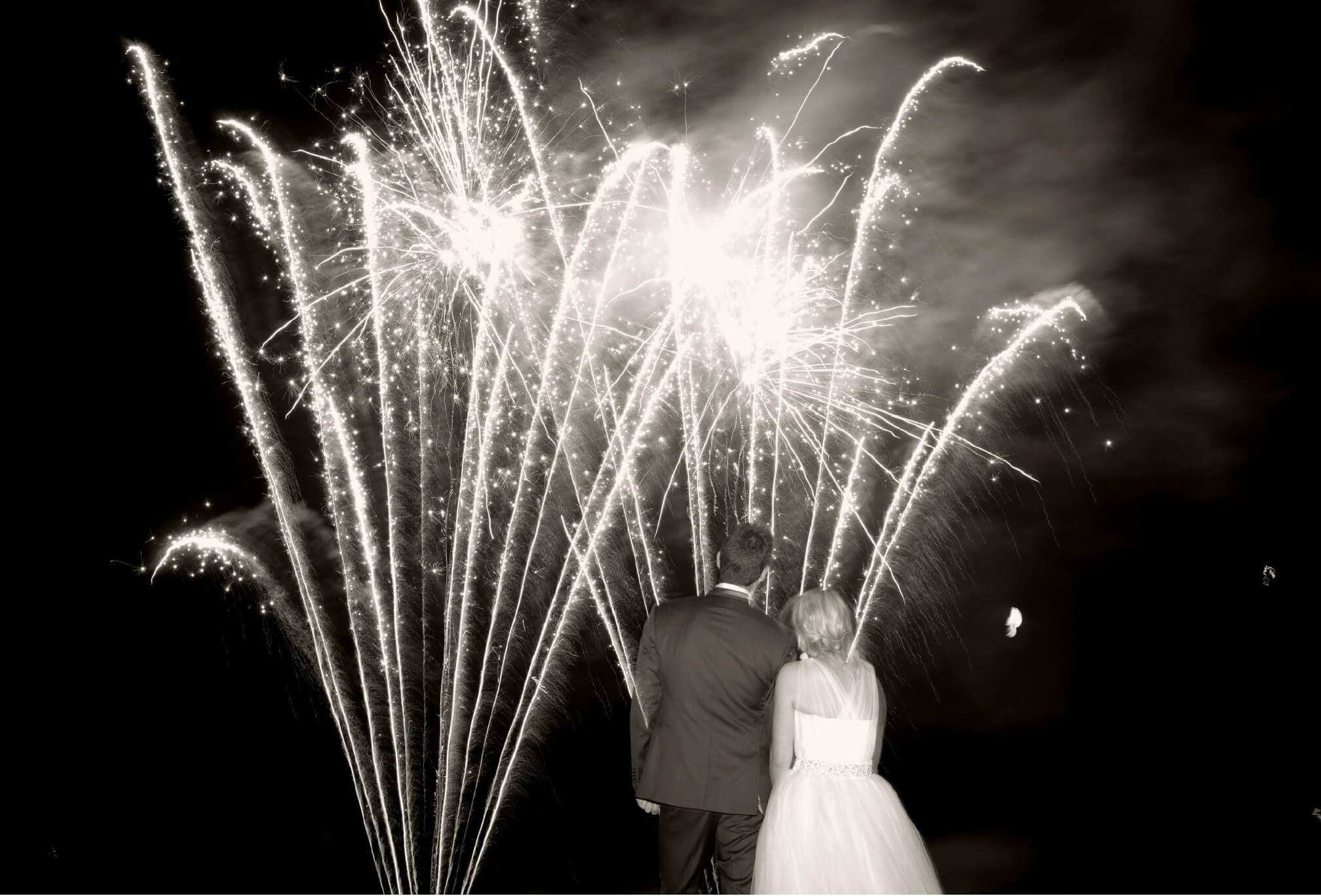 big fireworks wedding