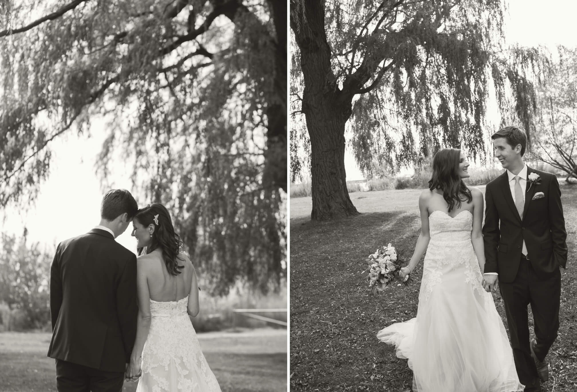 bride and groom willow trees toronto
