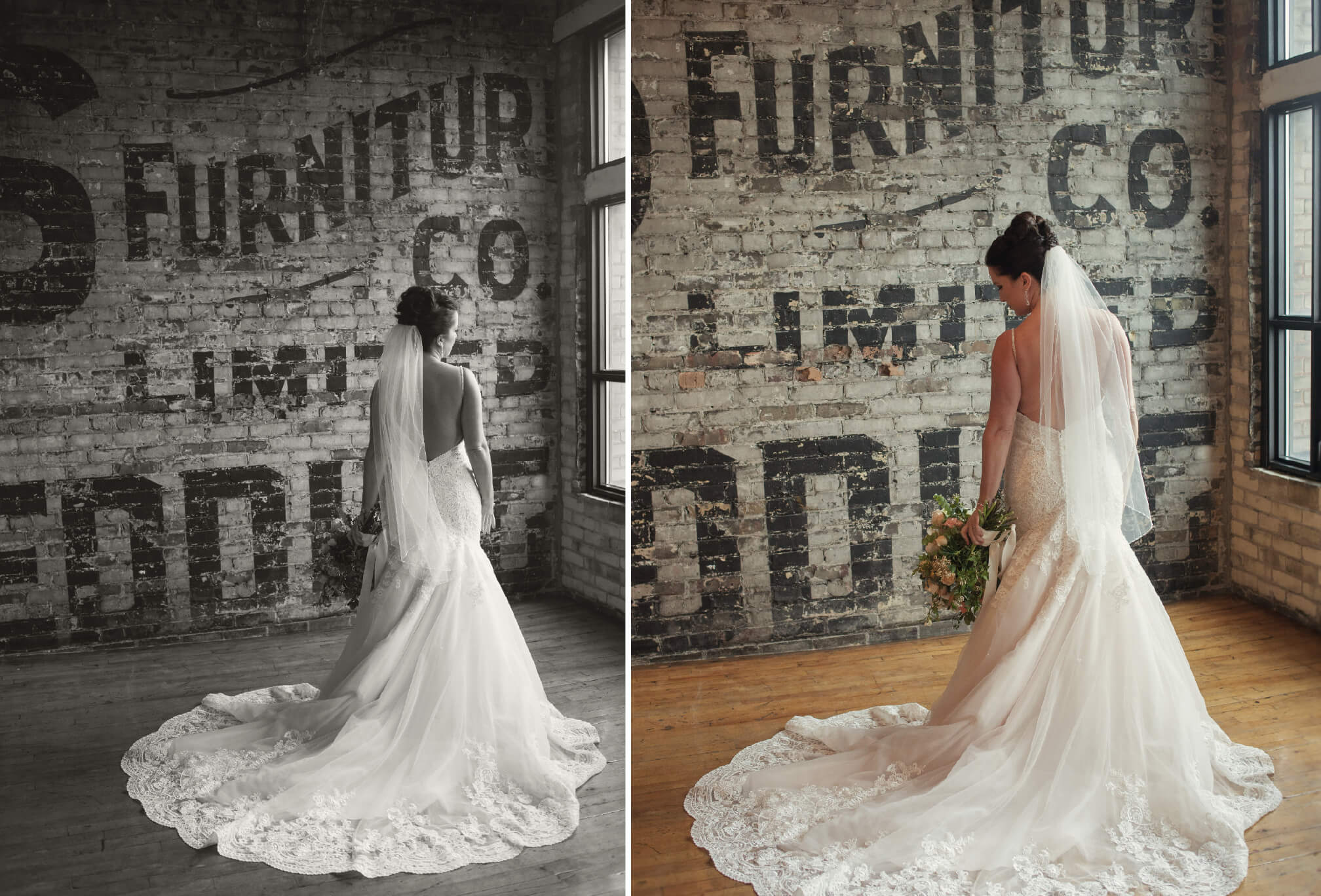 vintage bride at burroughes building