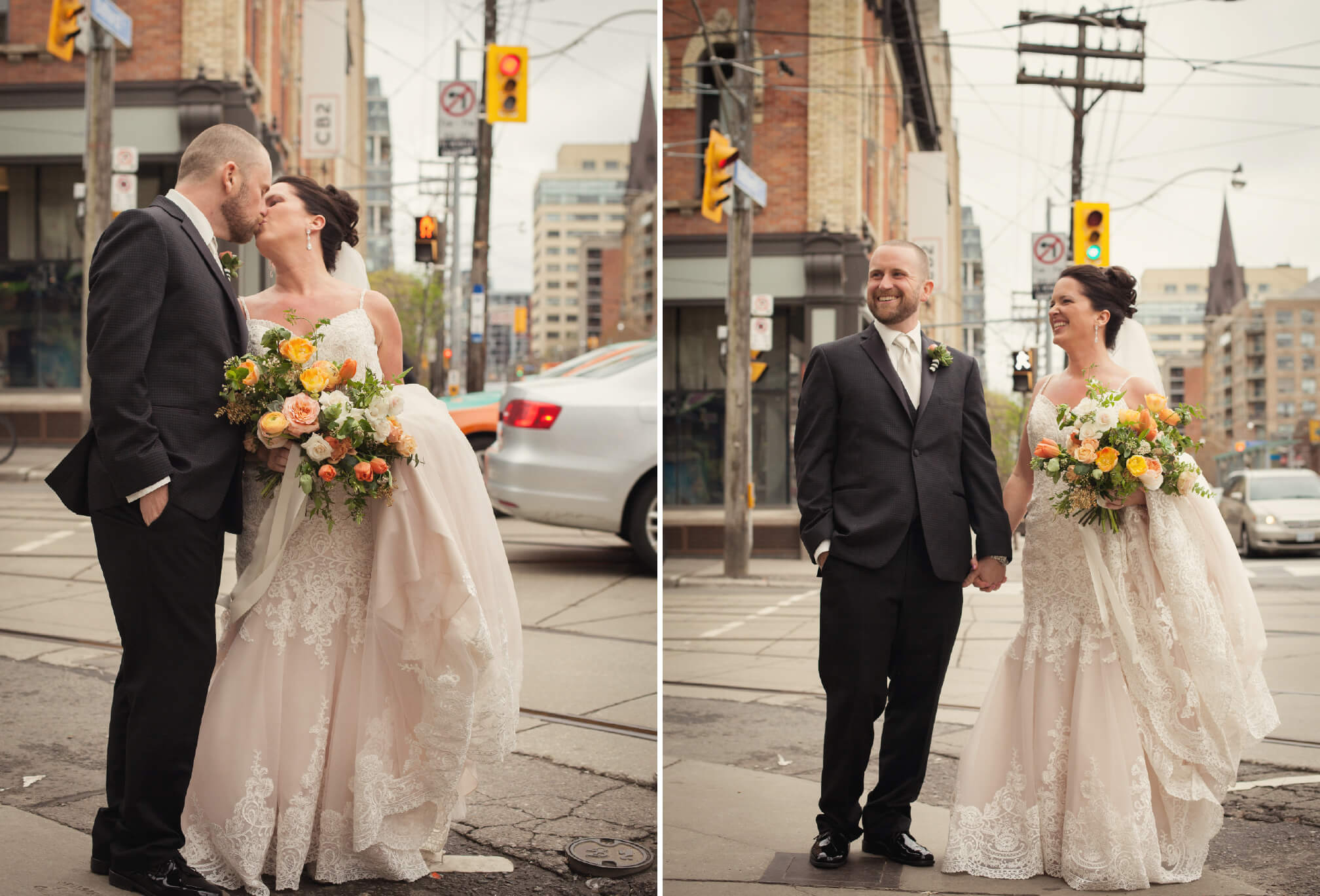 wedding photos on queen west toronto