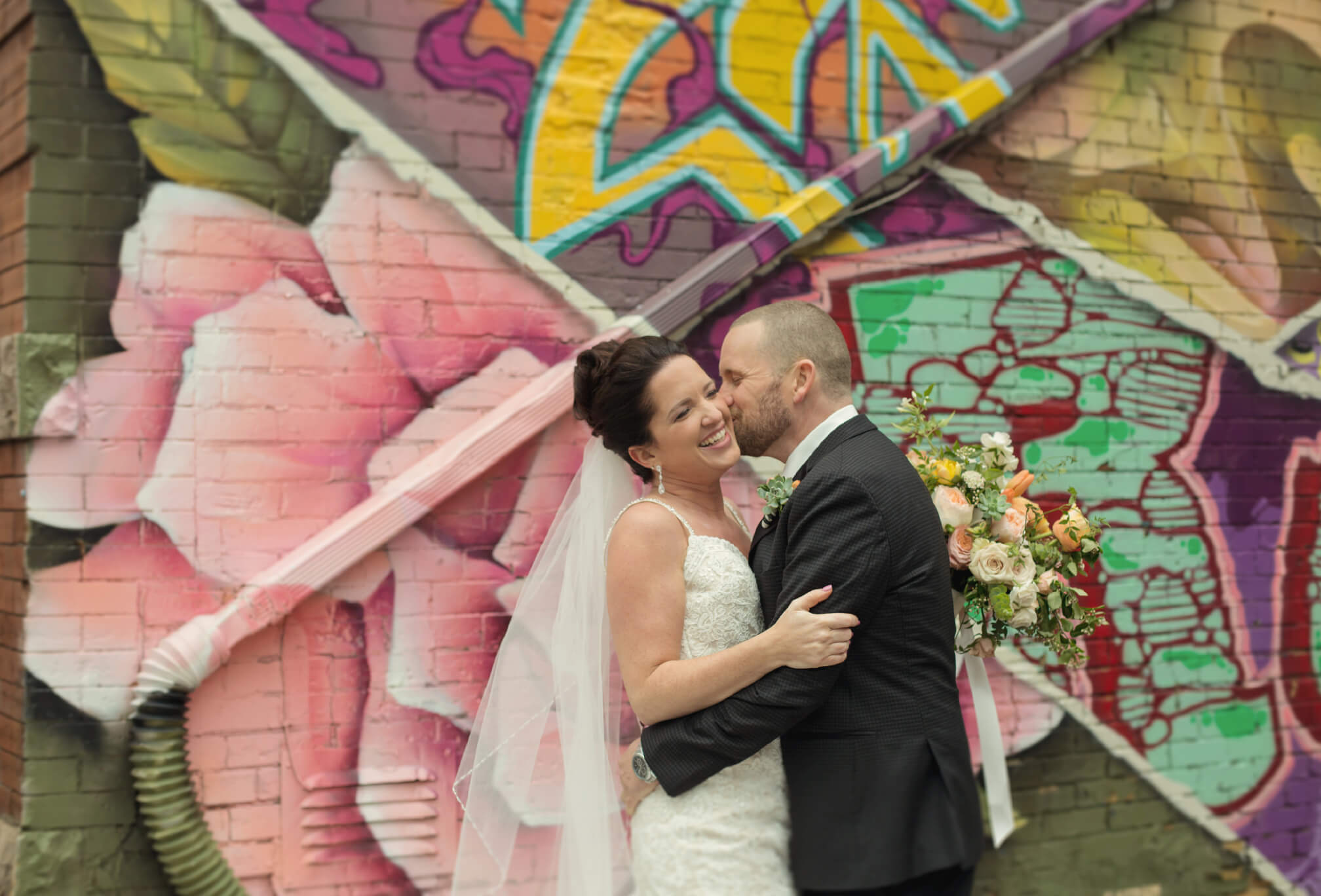 grafitti alley wedding photography