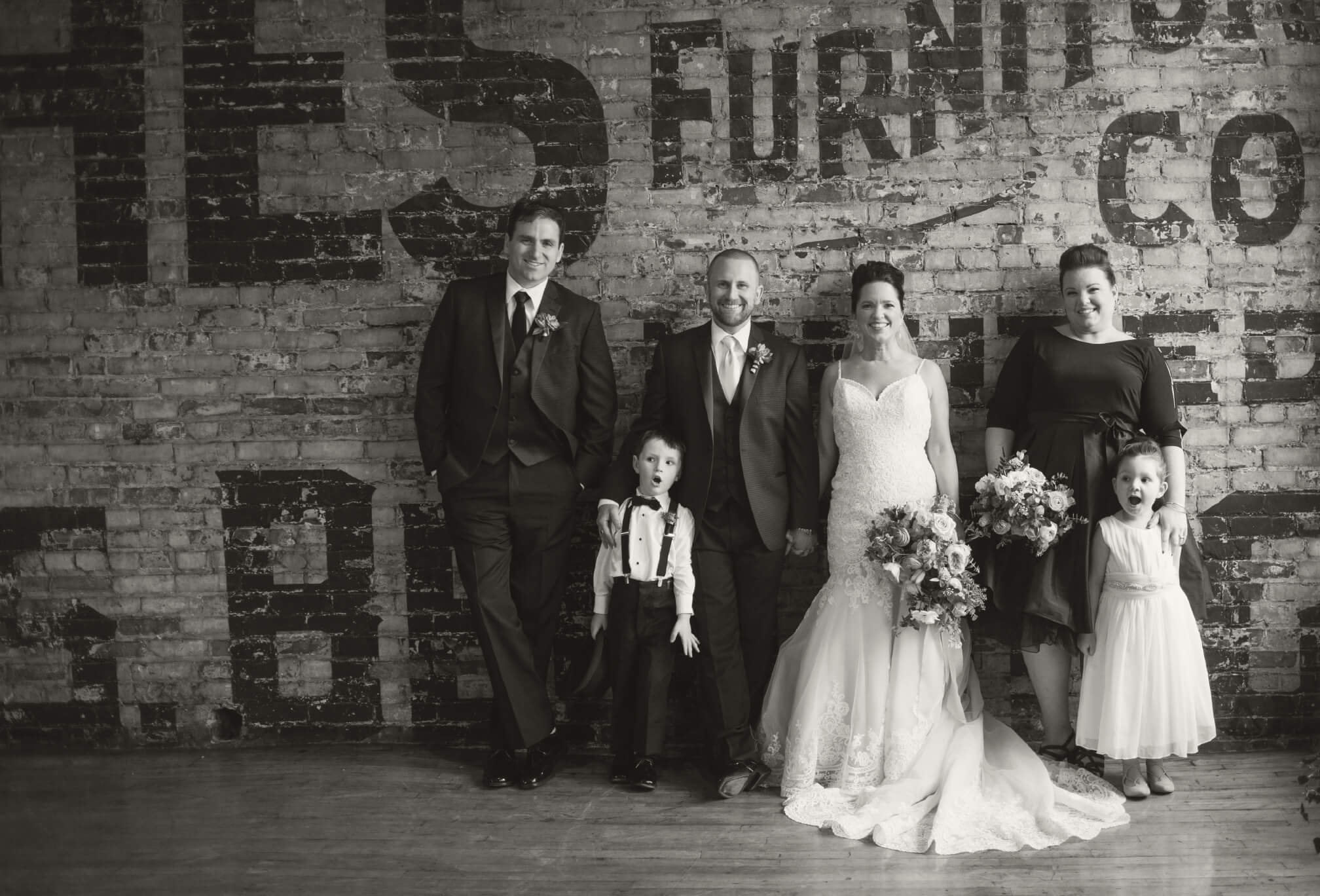 wedding portraits at burroughes building