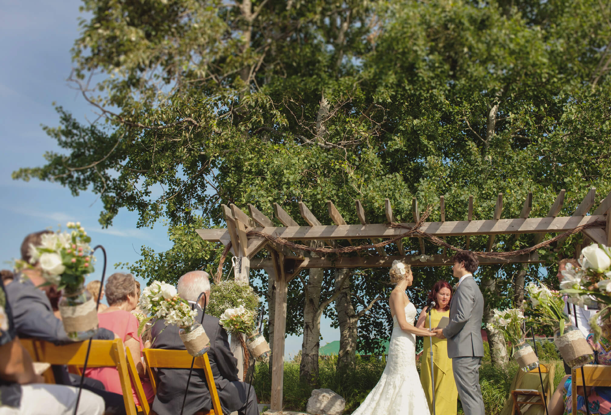 outdoor ceremony arbor