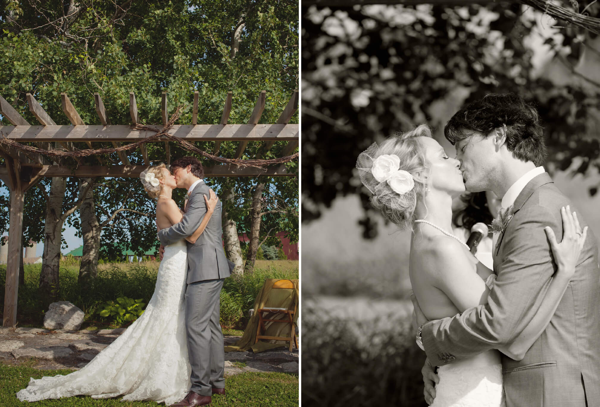 first kiss prince edward county wedding