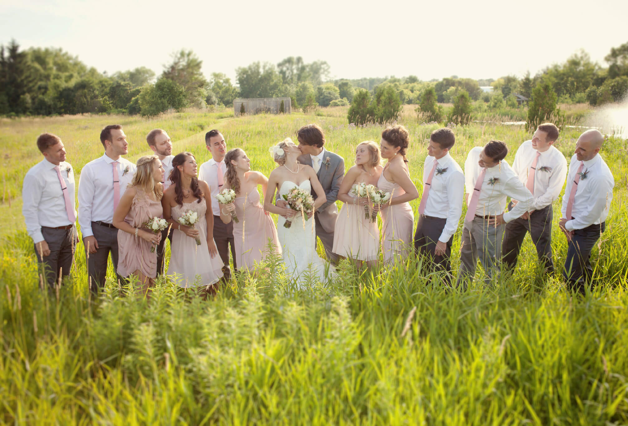 bridal party country wedding ontario