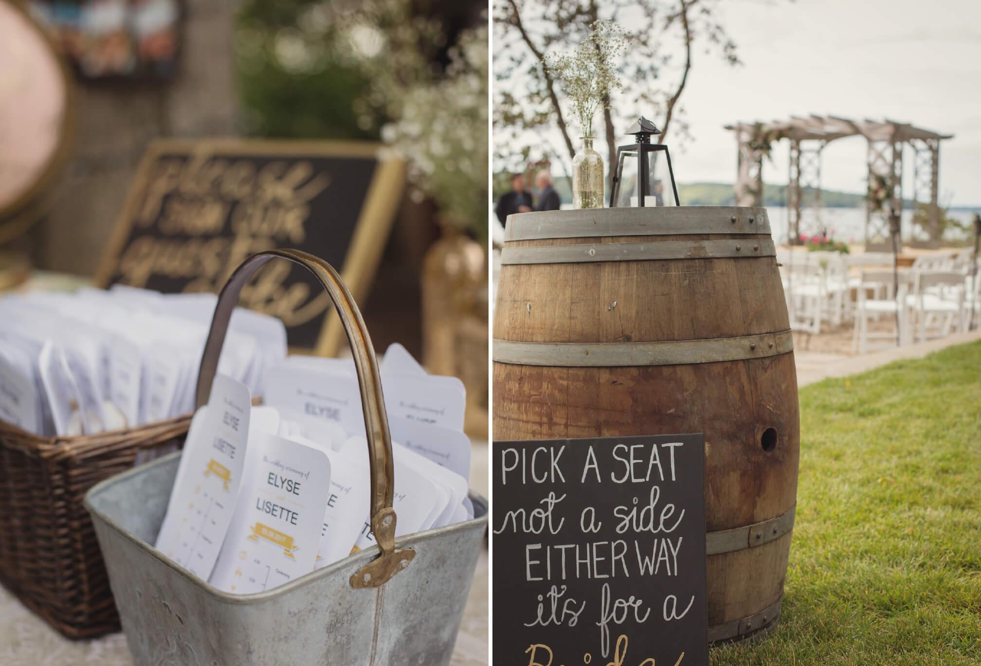 lakeside wedding decor ideas