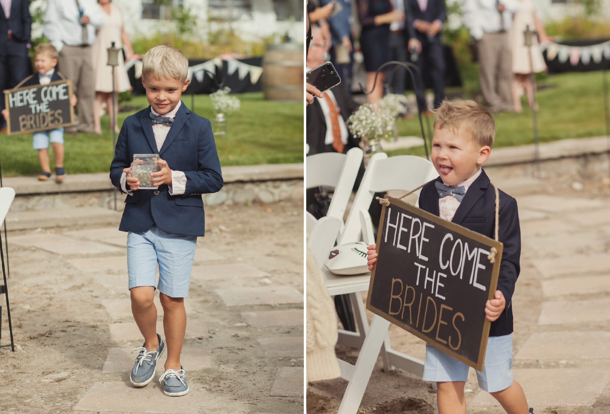 ring boy with sign