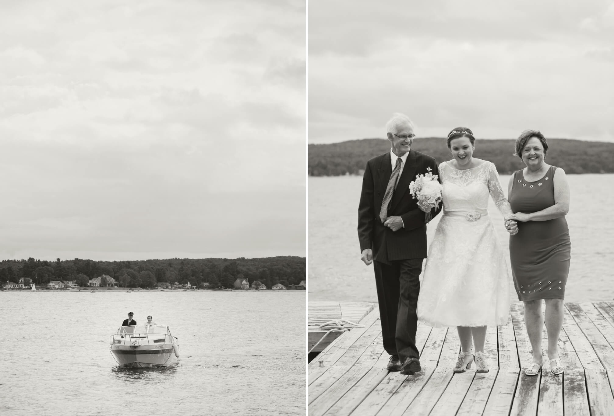 bride processional from boat
