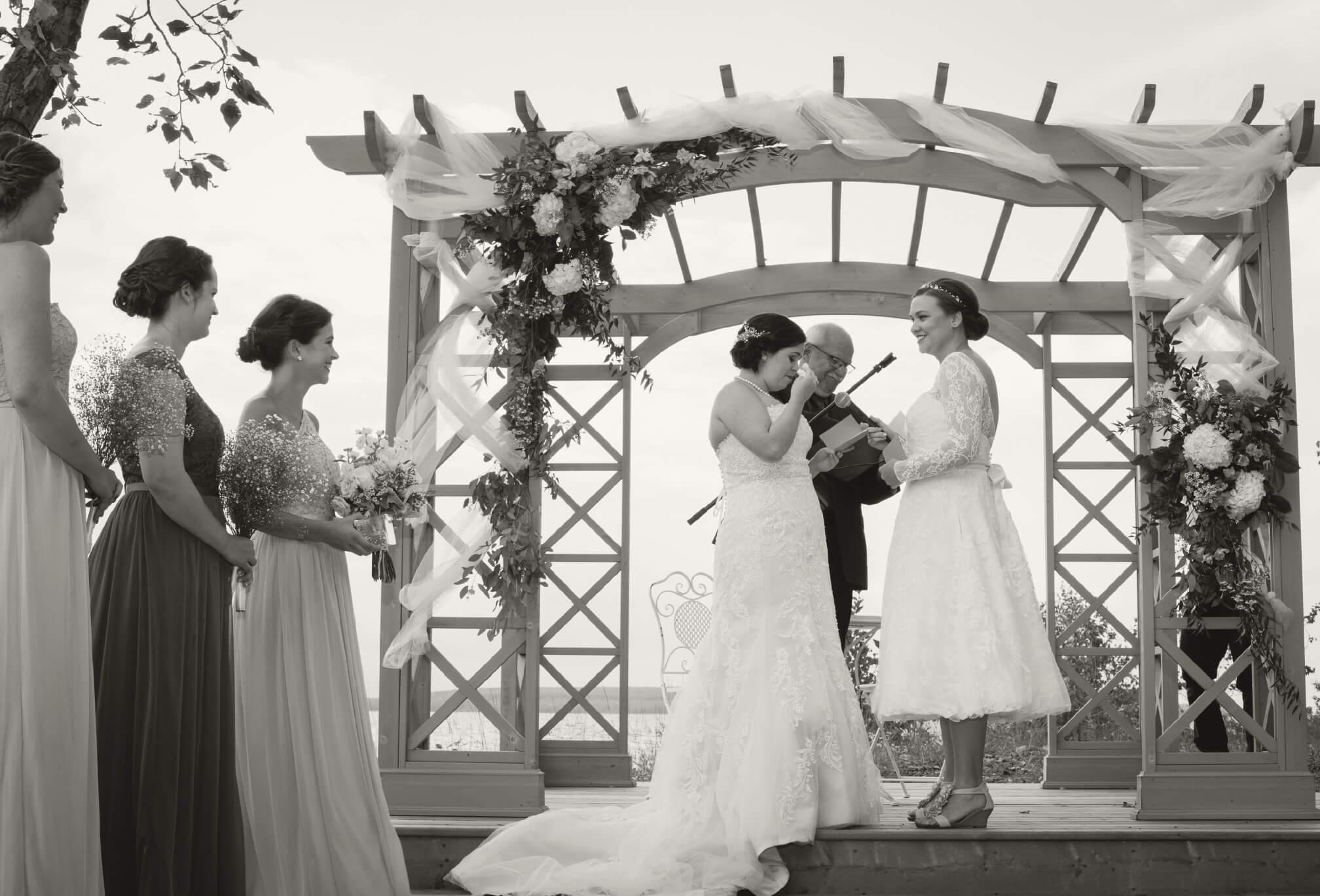 lakeside lesbian wedding ontario