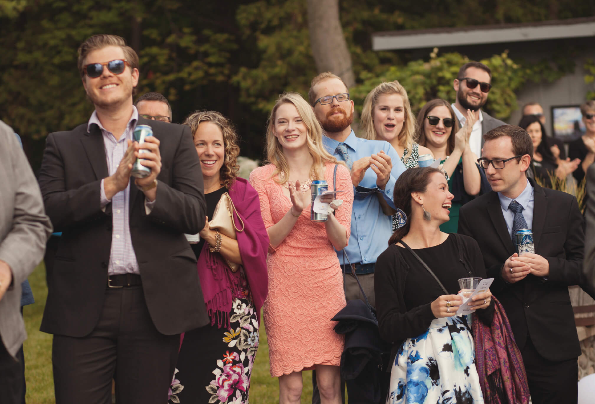 people clapping after ceremony