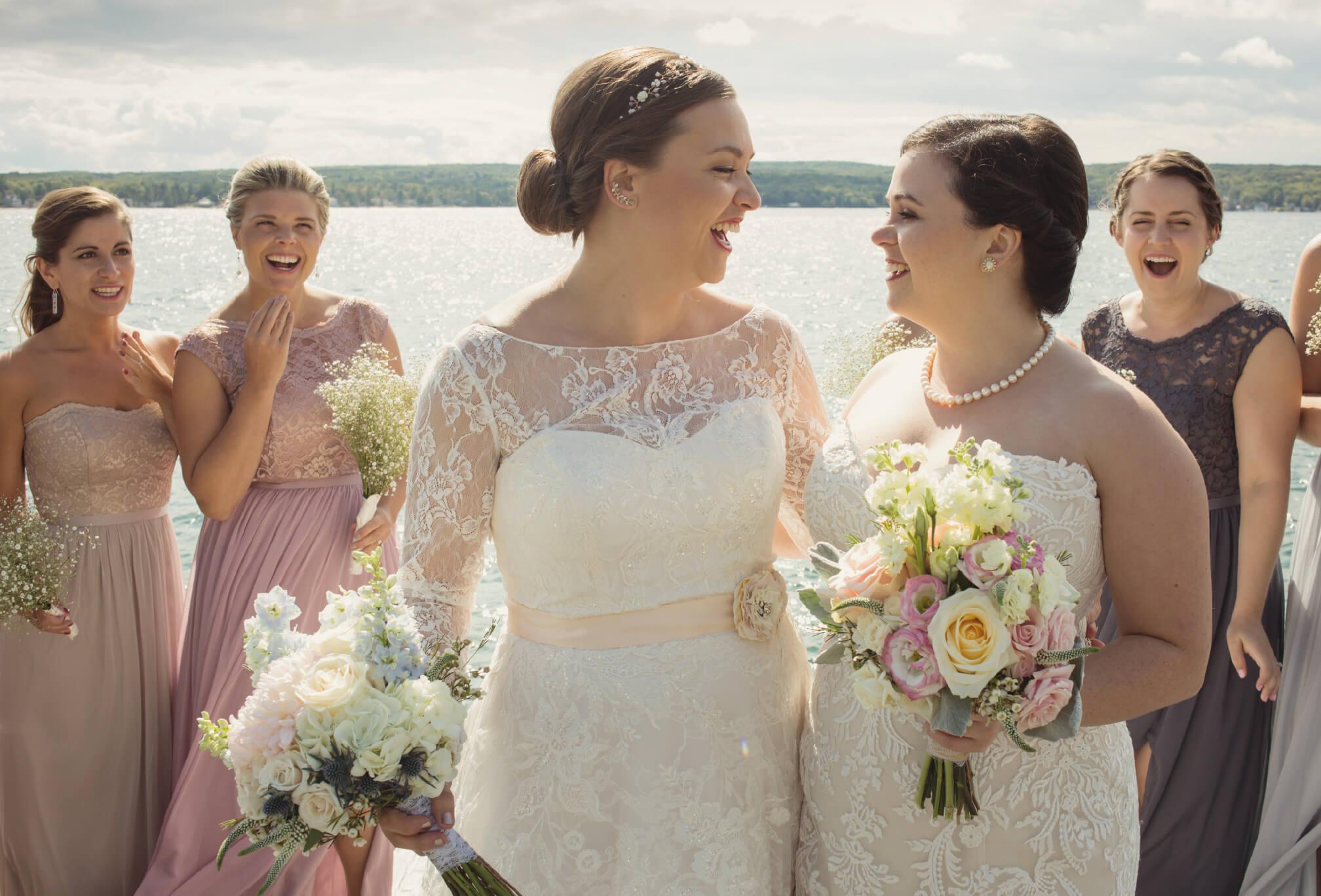 lesbian wedding on georgian bay