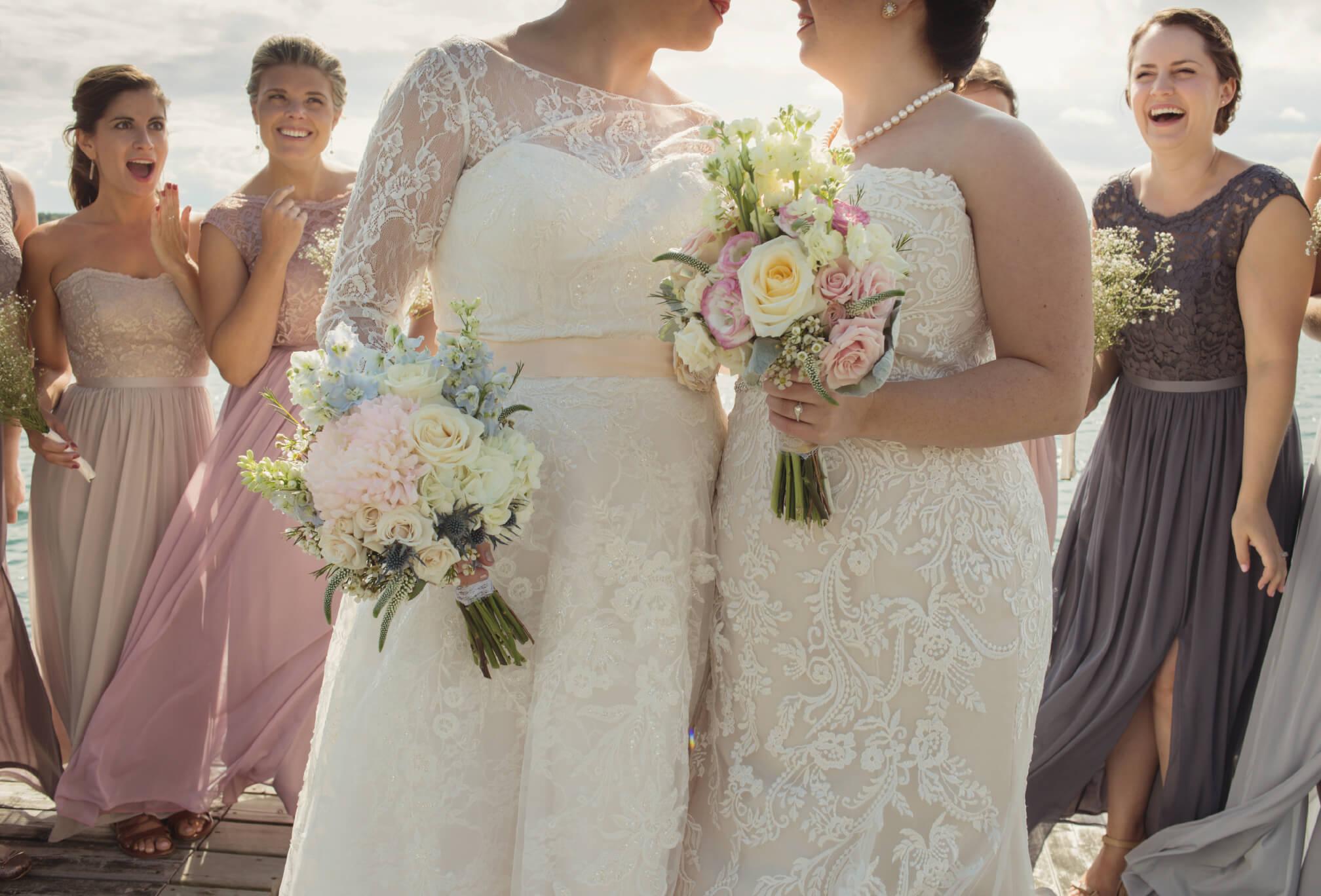 two brides gay wedding
