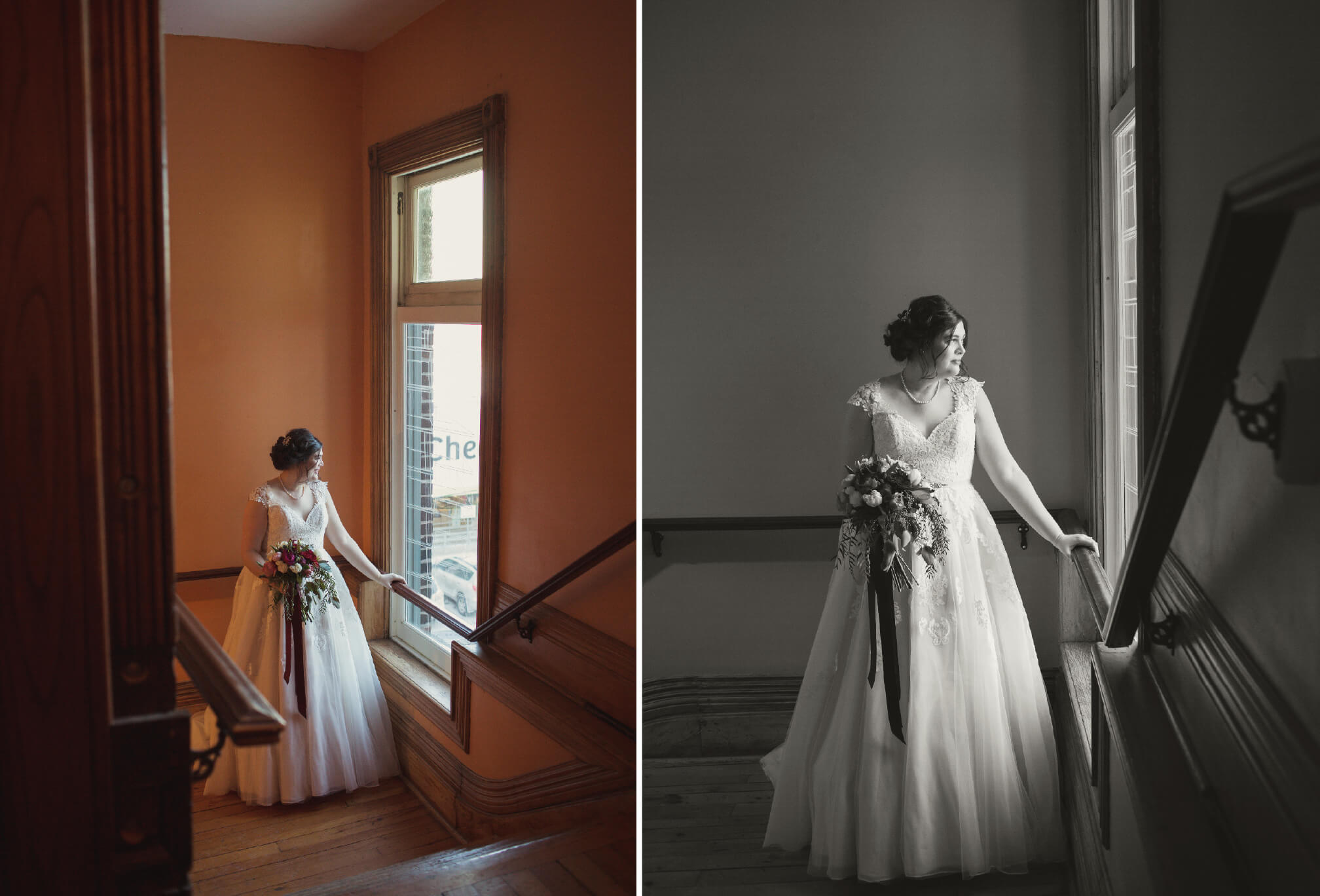 bride posing at gladtone hotel