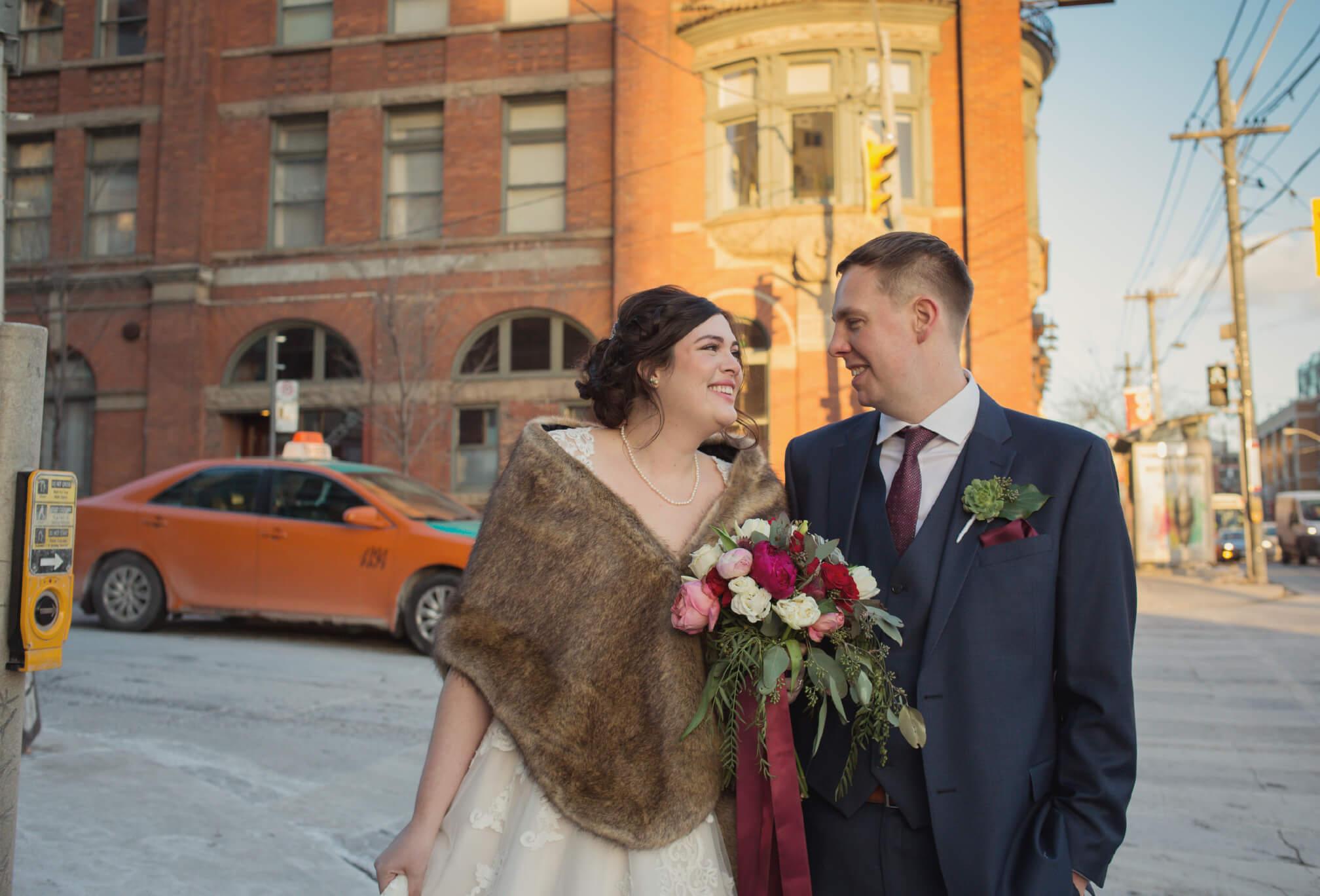 queen west wedding photos winter