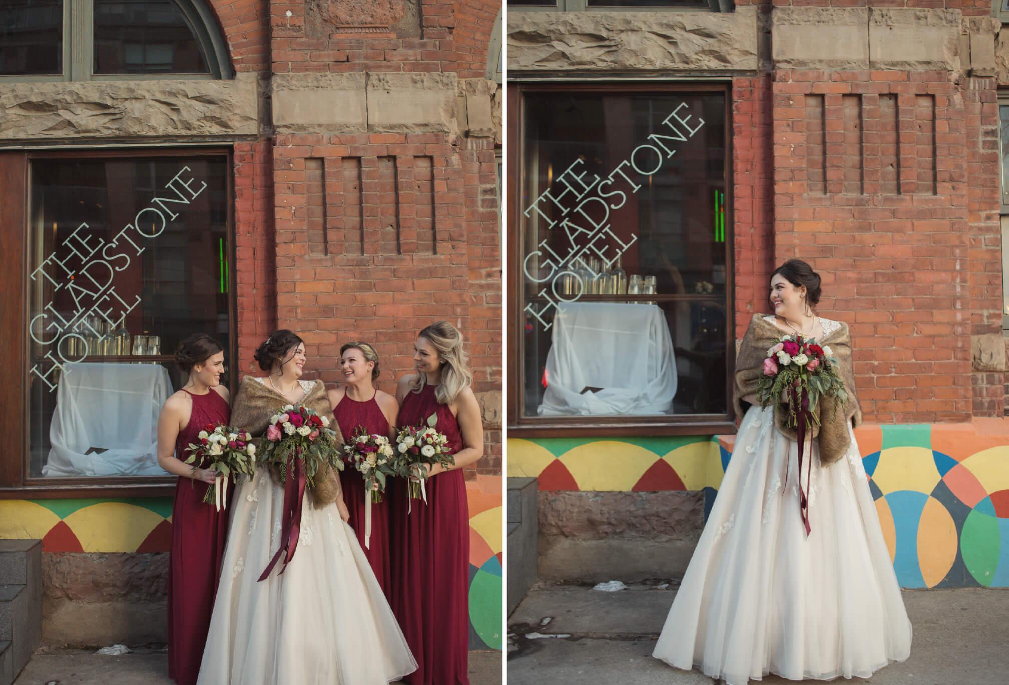 bridesmaids gladstone hotel wedding