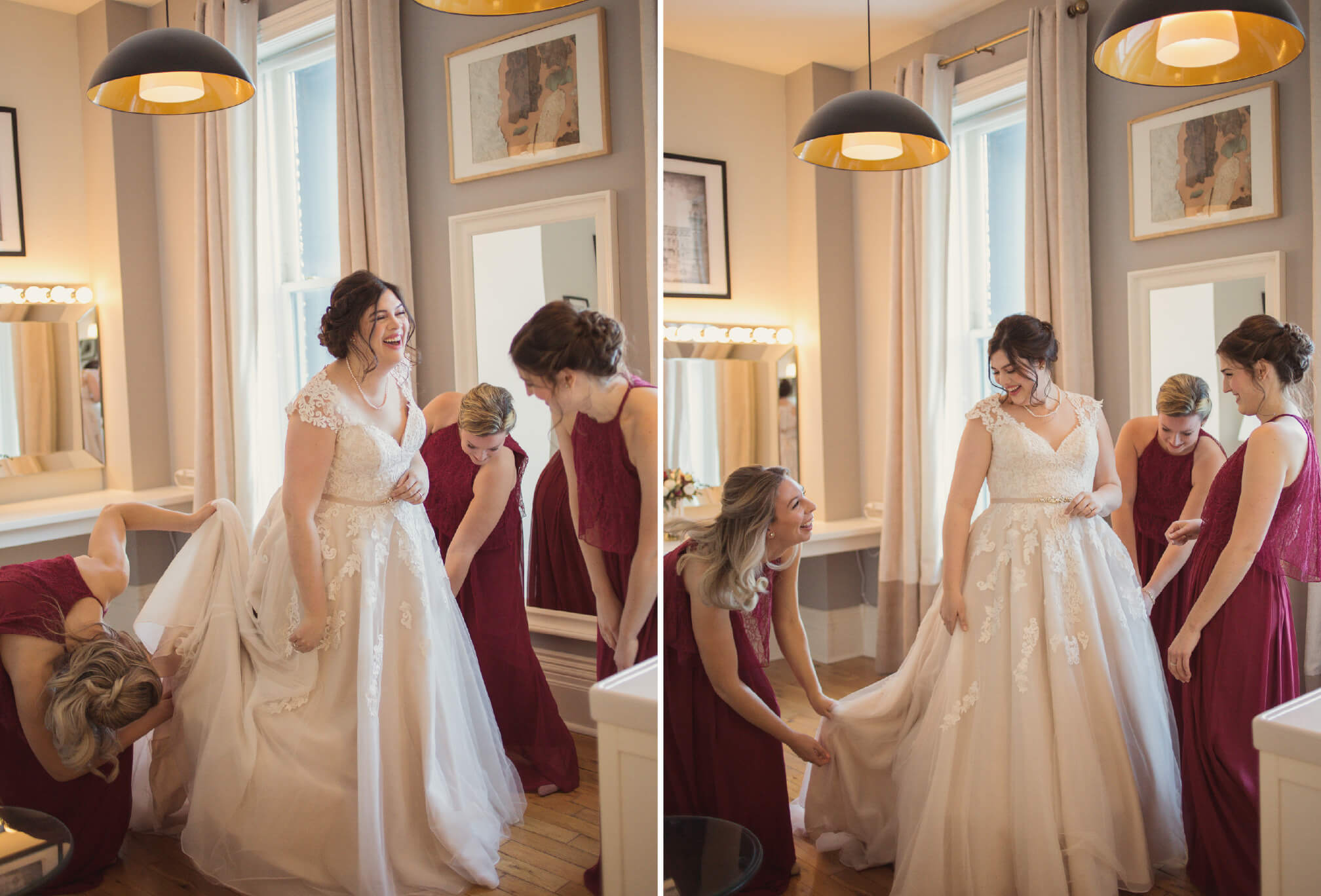 candid moment bridesmaids