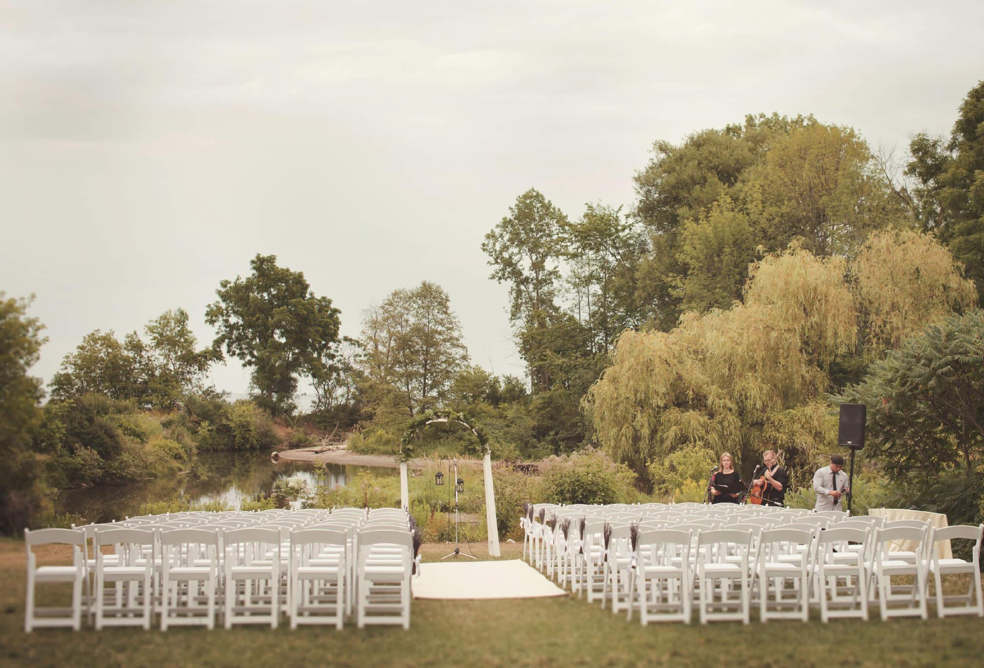 outdoor ceremony harding estate